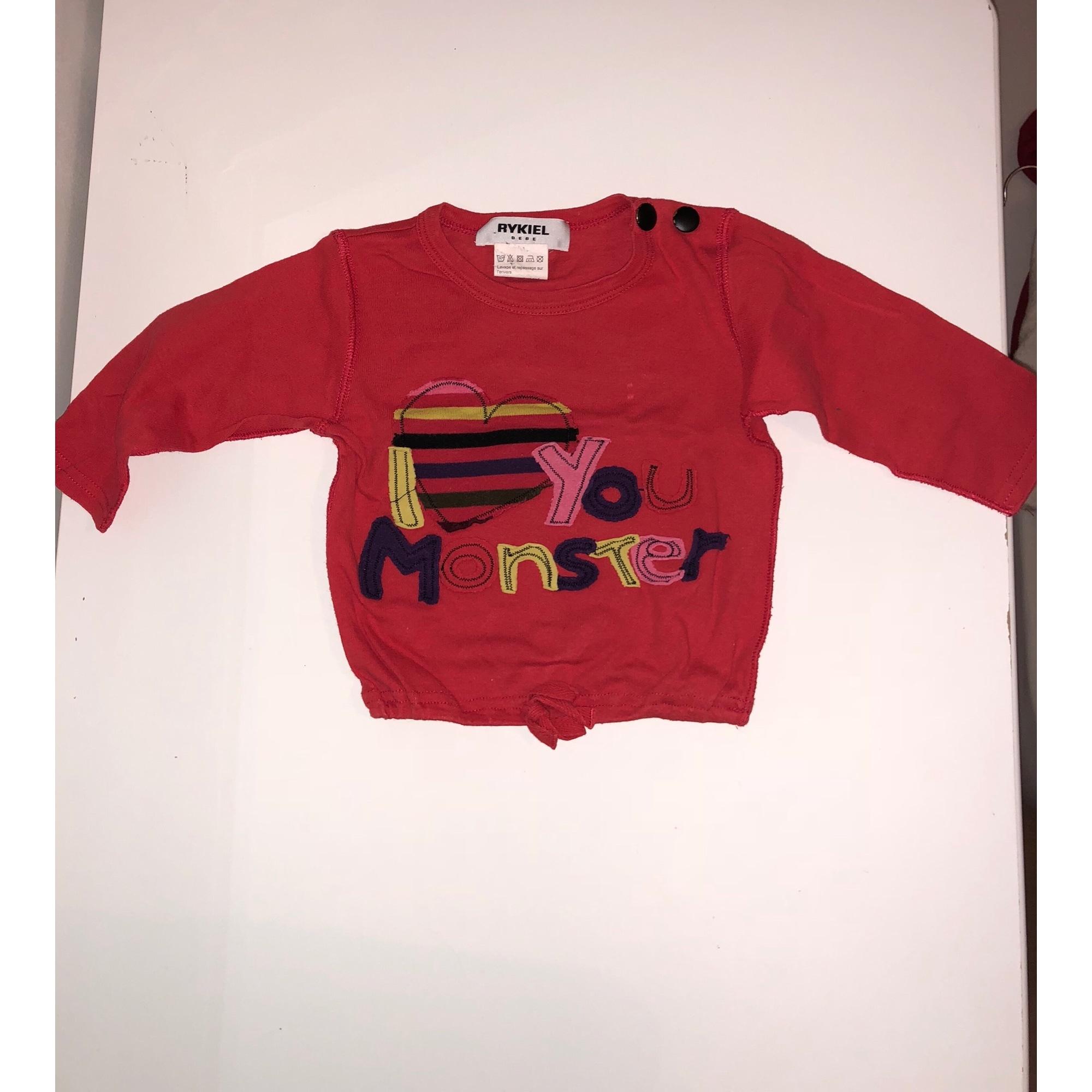Top, tee shirt SONIA RYKIEL coton orange 18 mois