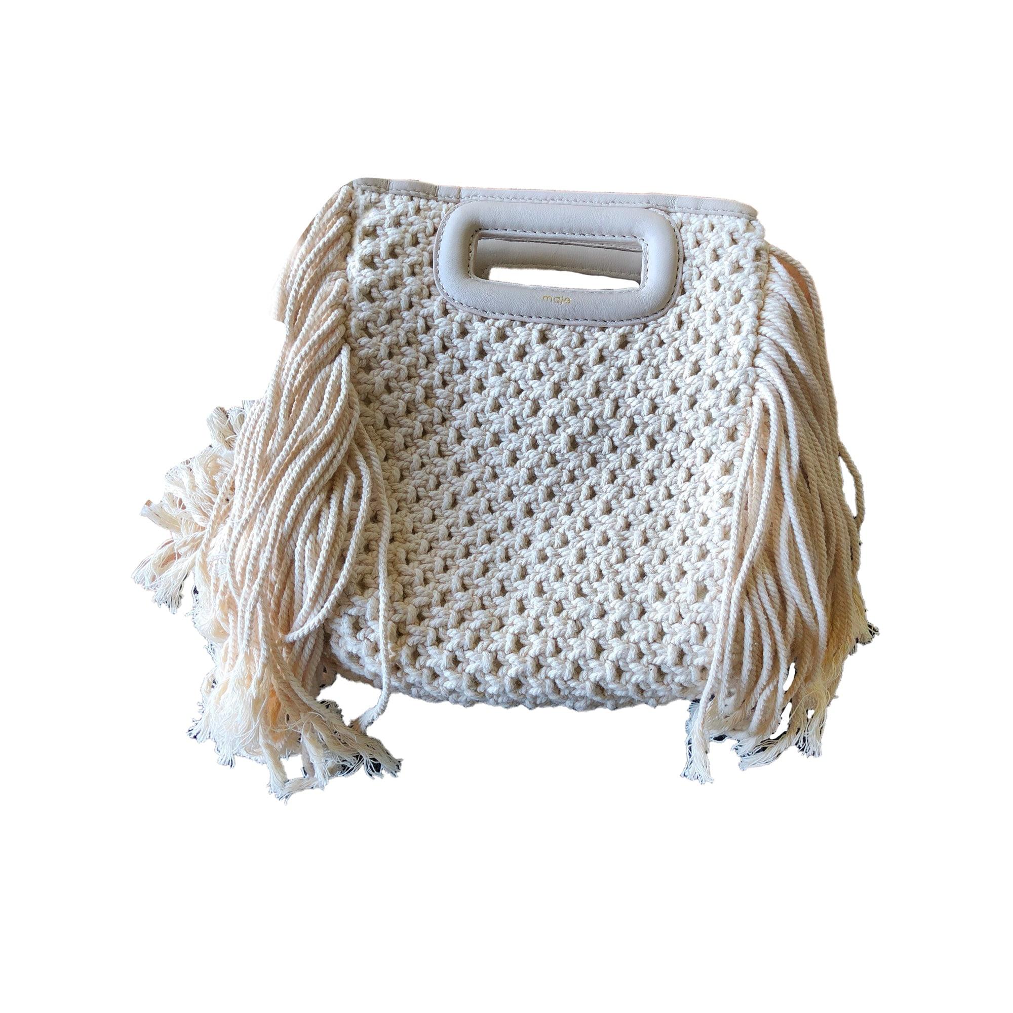 052a2f9f56 Sac en bandoulière en tissu MAJE blanc vendu par Maevawytten - 8084663