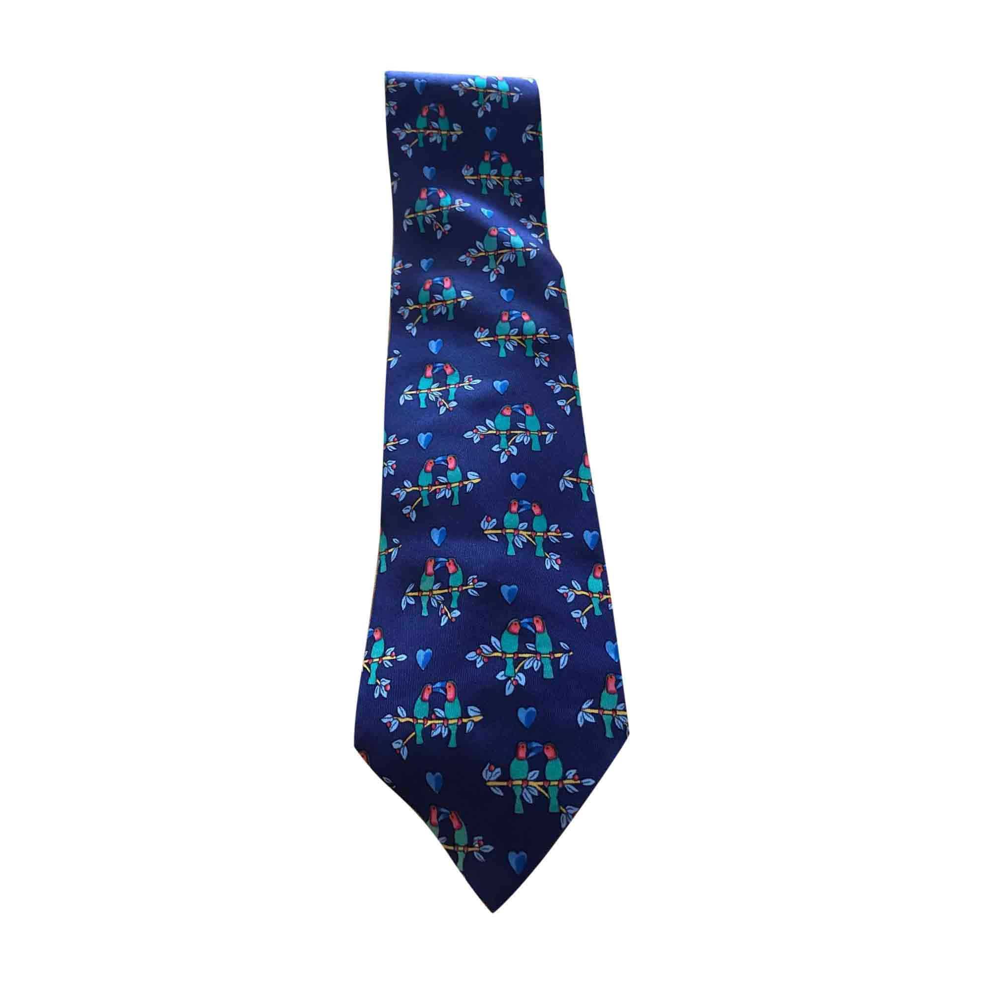 Cravate HERMÈS Bleu, bleu marine, bleu turquoise