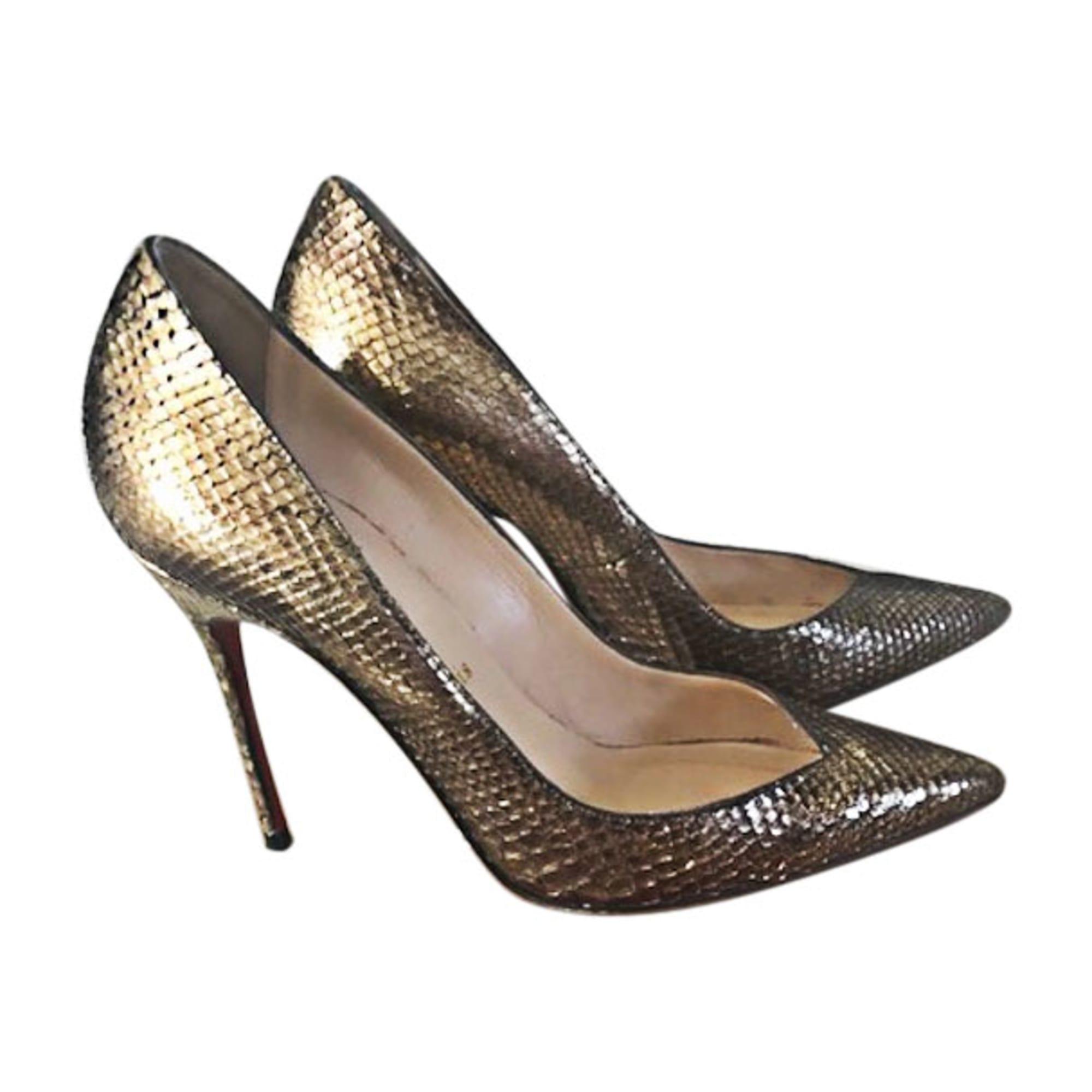 chaussure louboutin doré
