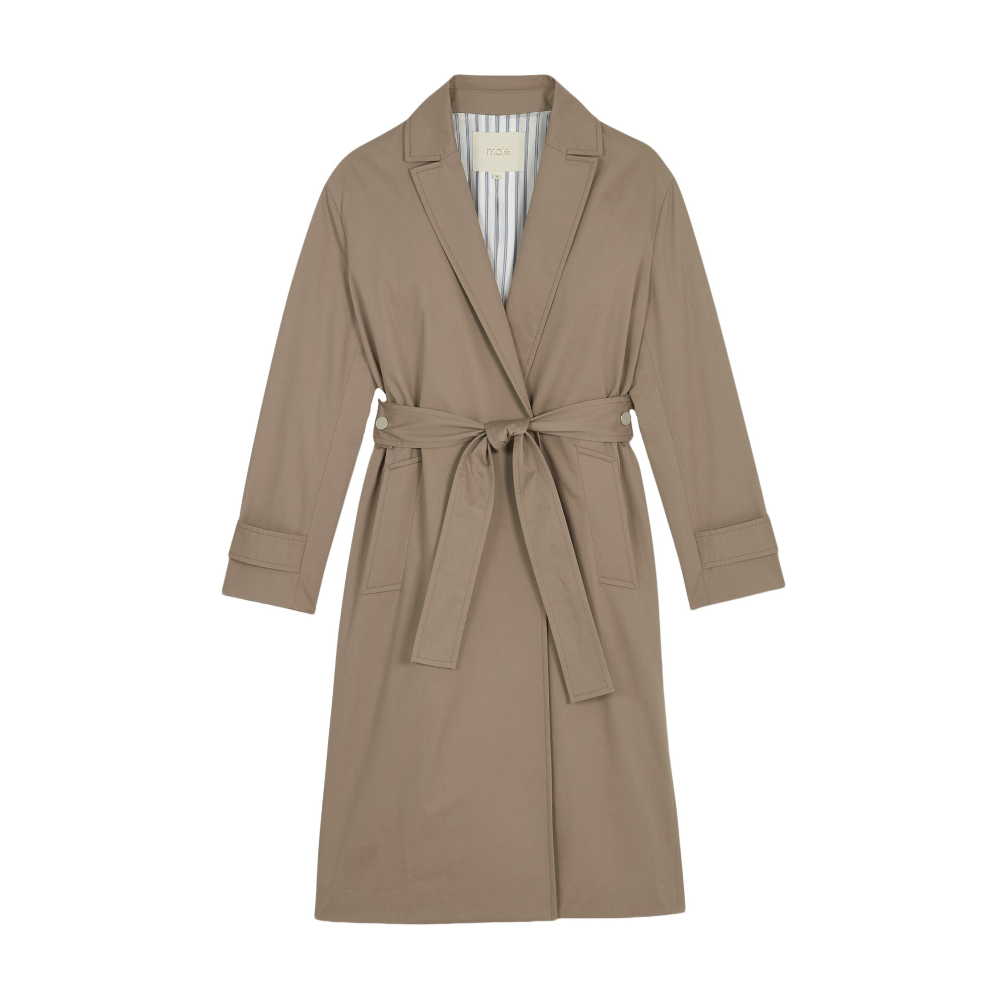 T2 MAJE trench 8106822 M 38 Imperméable beige P7v8qIxnq