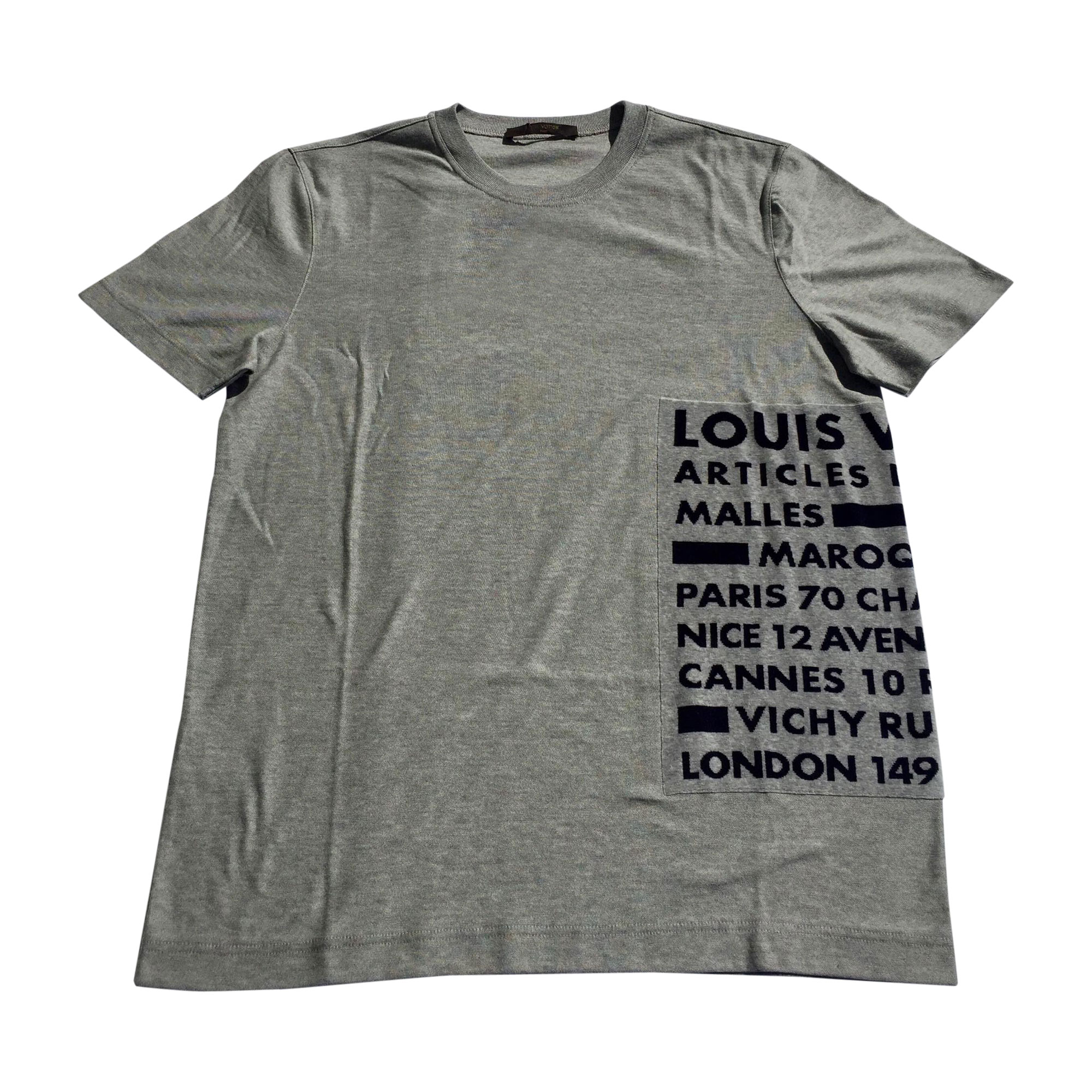 Tee-shirt LOUIS VUITTON Gris, anthracite