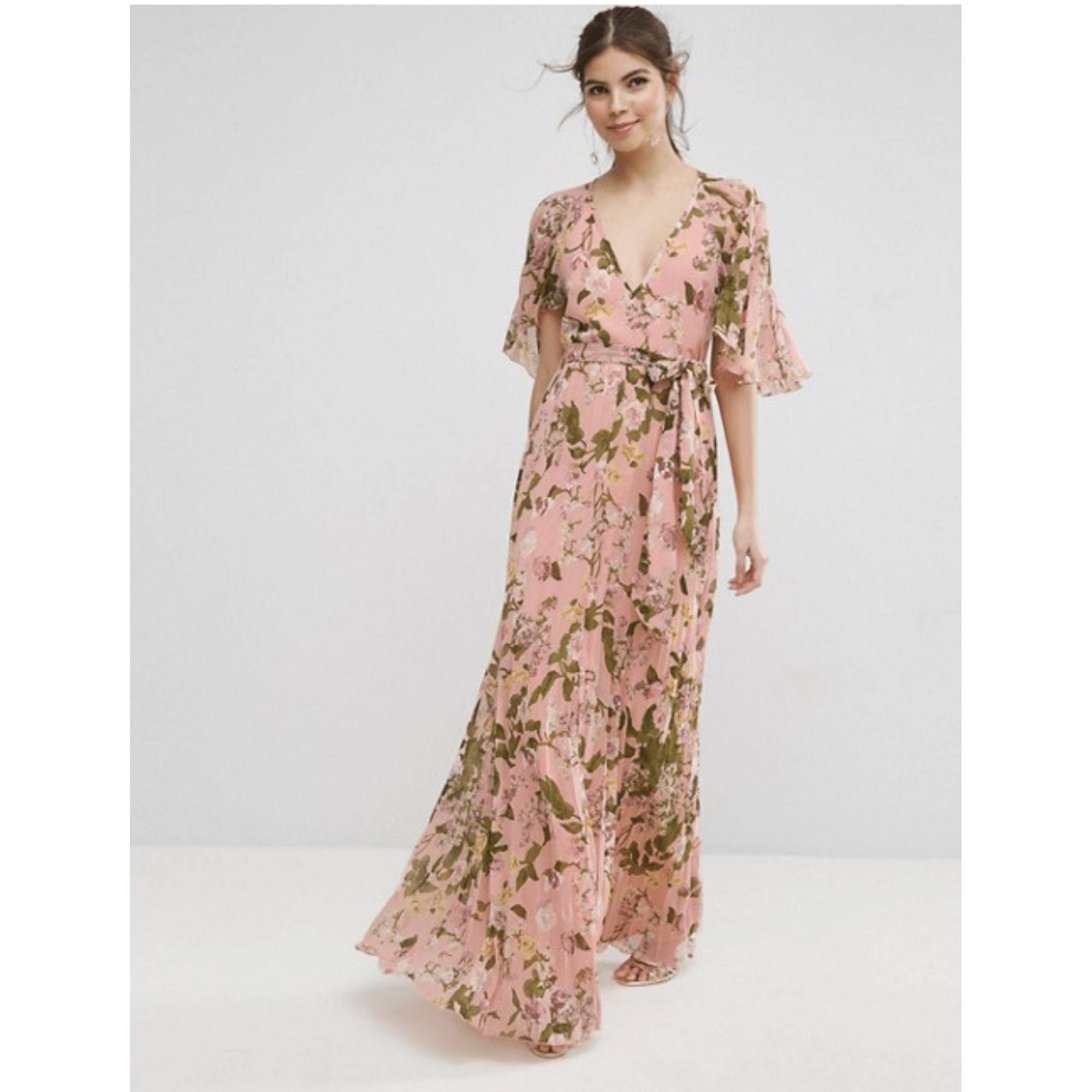 Robe Longue Asos Design 38 M T2 Rose 8107941