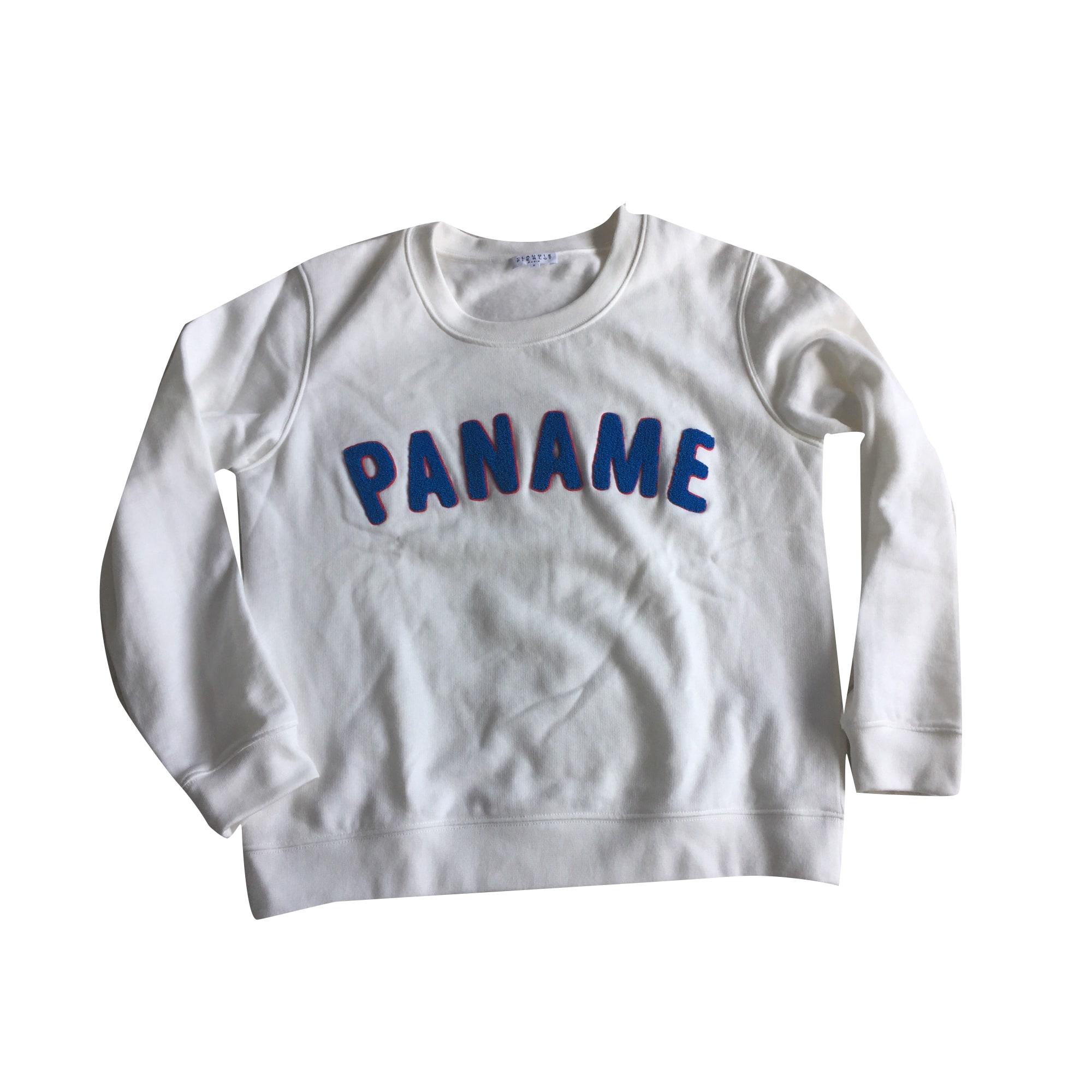Sweatshirt CLAUDIE PIERLOT White, off-white, ecru