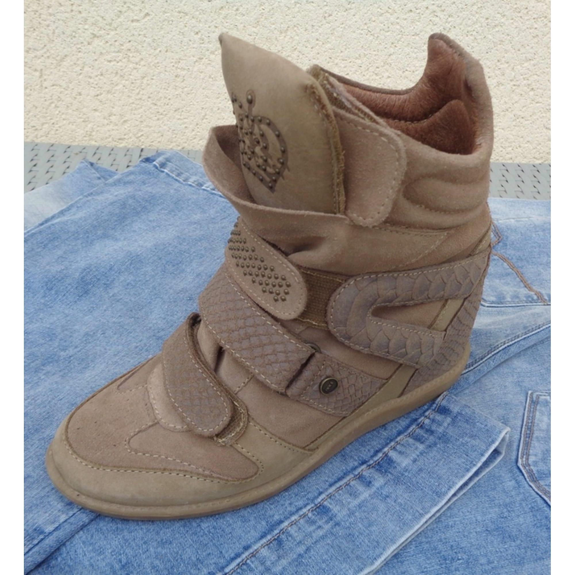 8dafe8b1a Bottines & low boots à compensés IKKS