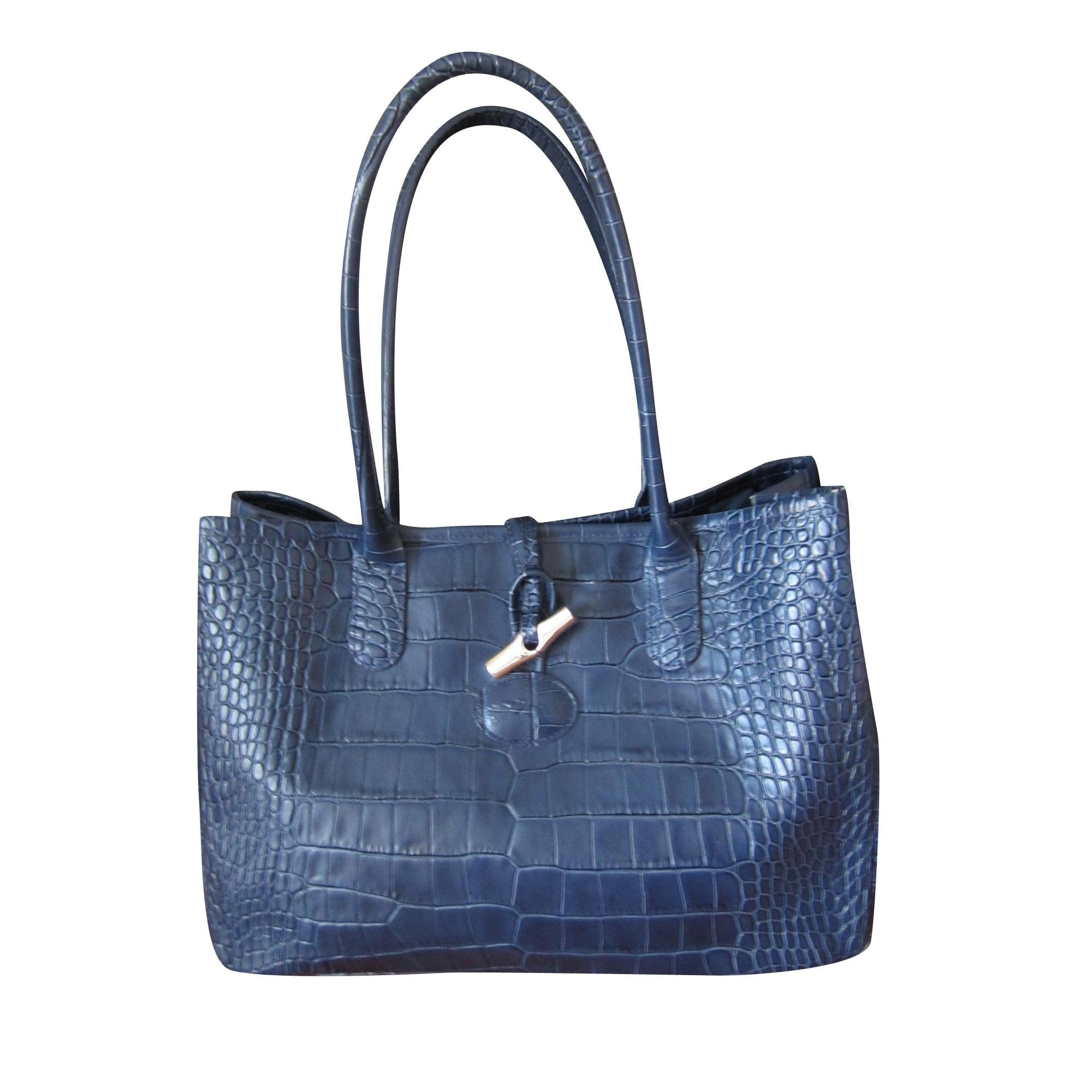 Sac à main en cuir LONGCHAMP bleu vendu par Le dressing de karo ... b861e186c0b