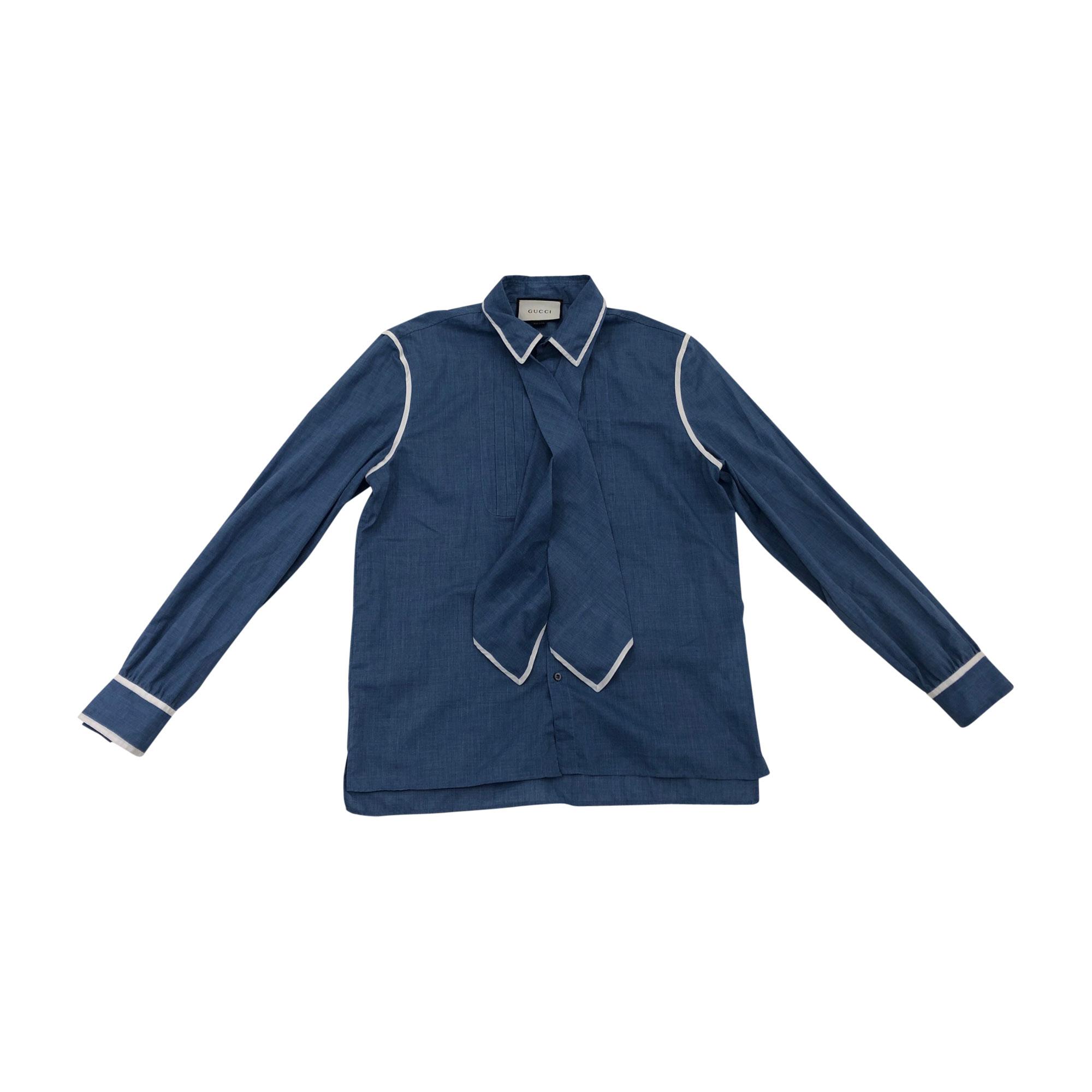 d6c187bfec09 Chemise GUCCI Bleu, bleu marine, bleu turquoise