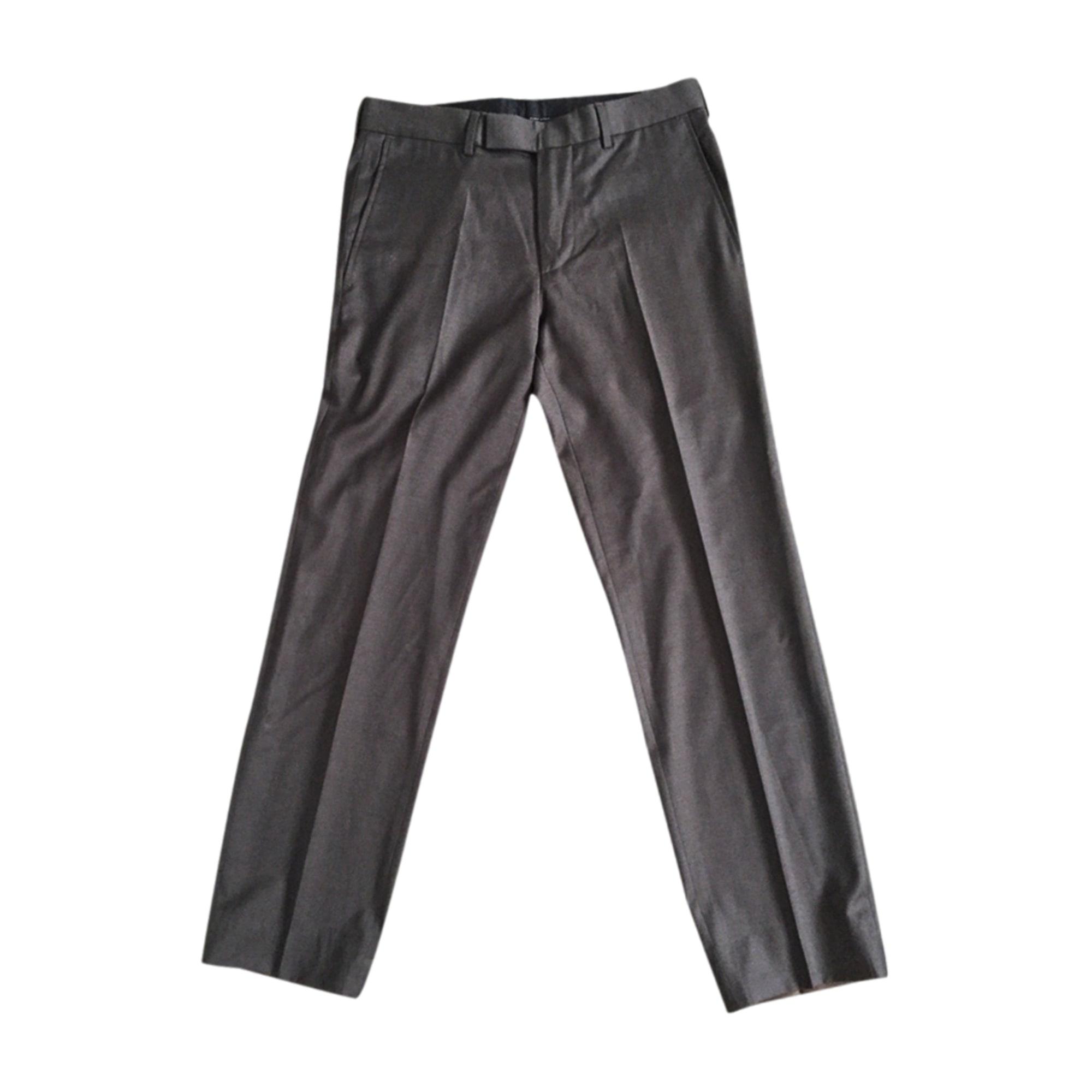 Pantalon droit HUGO BOSS Marron