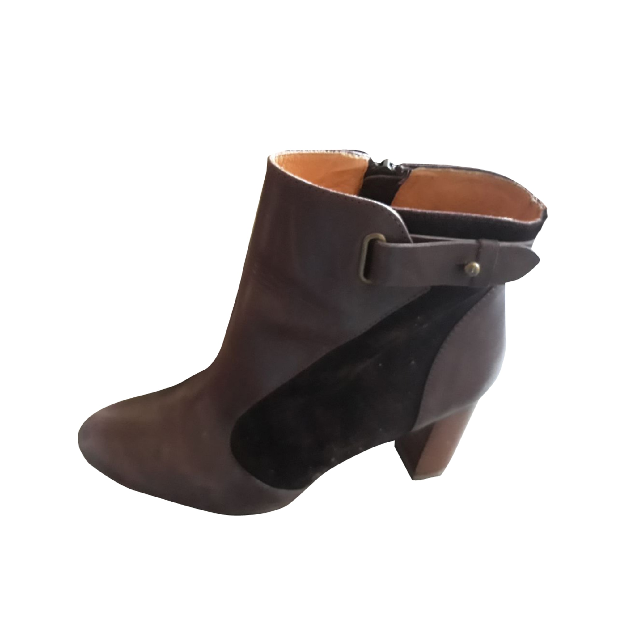 High Heel Ankle Boots COMPTOIR DES COTONNIERS Red, burgundy