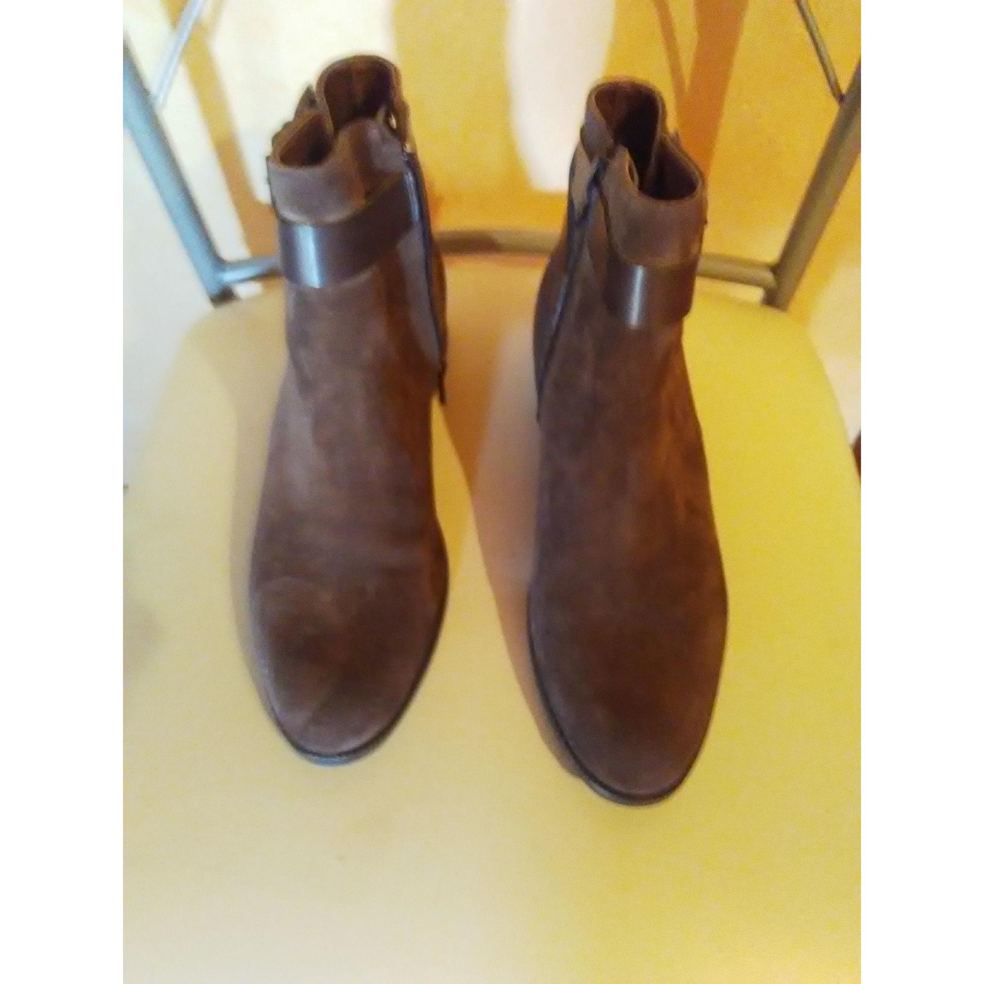 Bottines & low boots plates LA HALLE AUX CHAUSSURES Marron