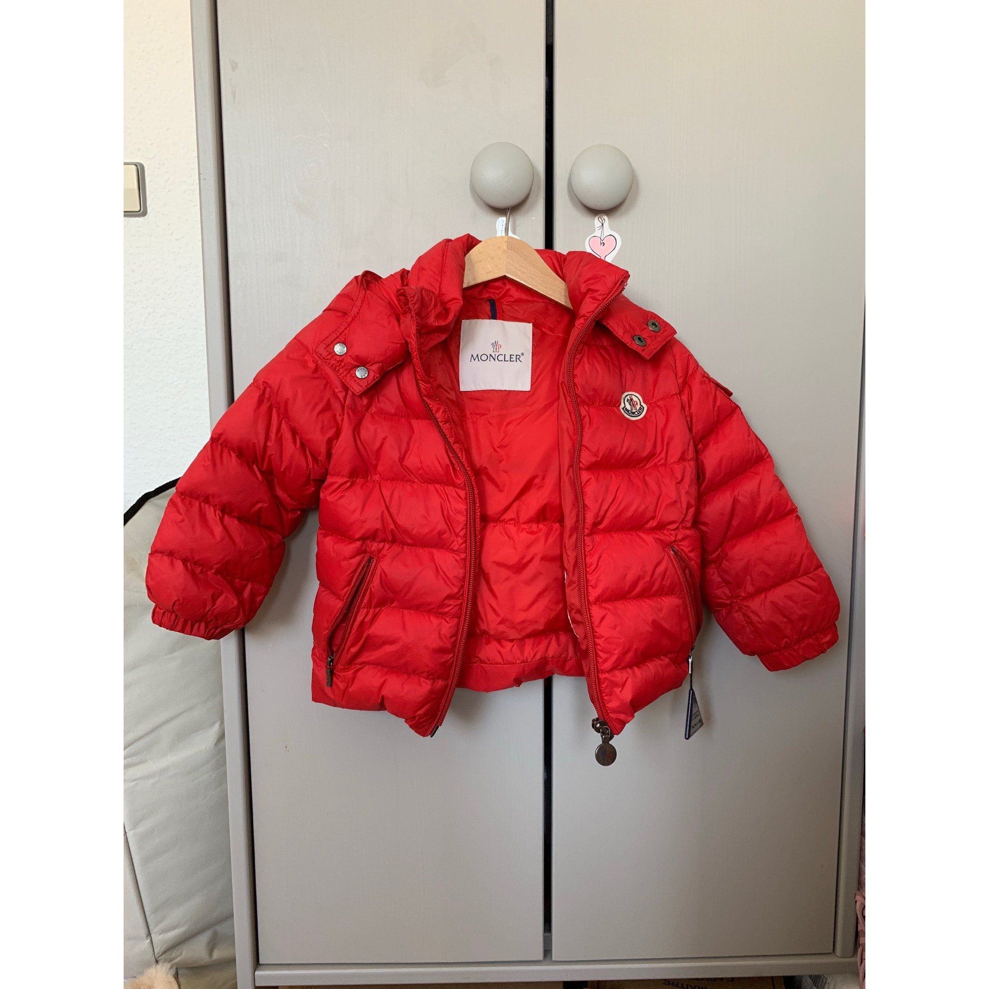 0bb6ea117ed Doudoune MONCLER 18 mois rouge - 8118312