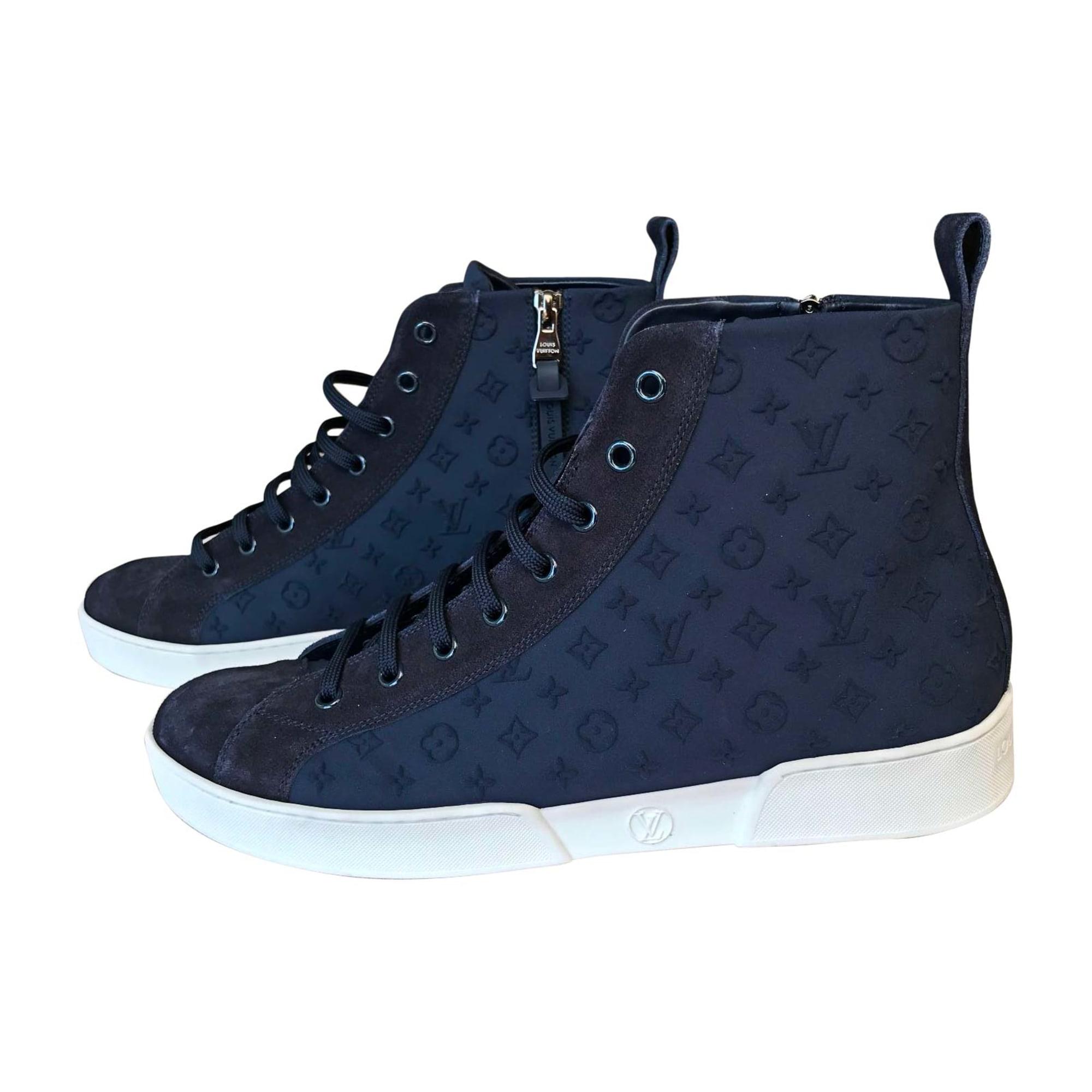 Baskets LOUIS VUITTON Bleu, bleu marine, bleu turquoise 1bd1cff369b