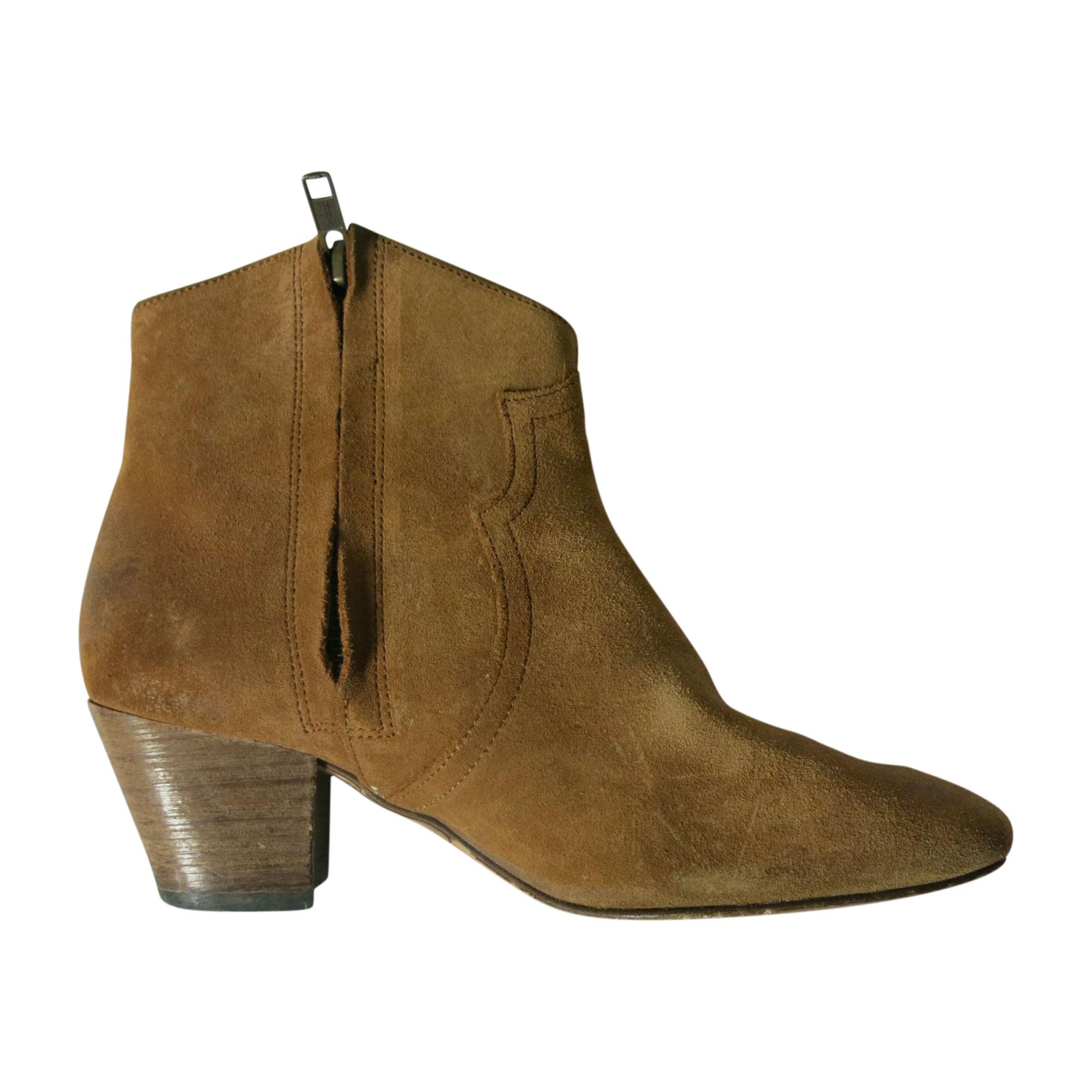 Bottines & low boots à talons ISABEL MARANT Dickers Beige, camel