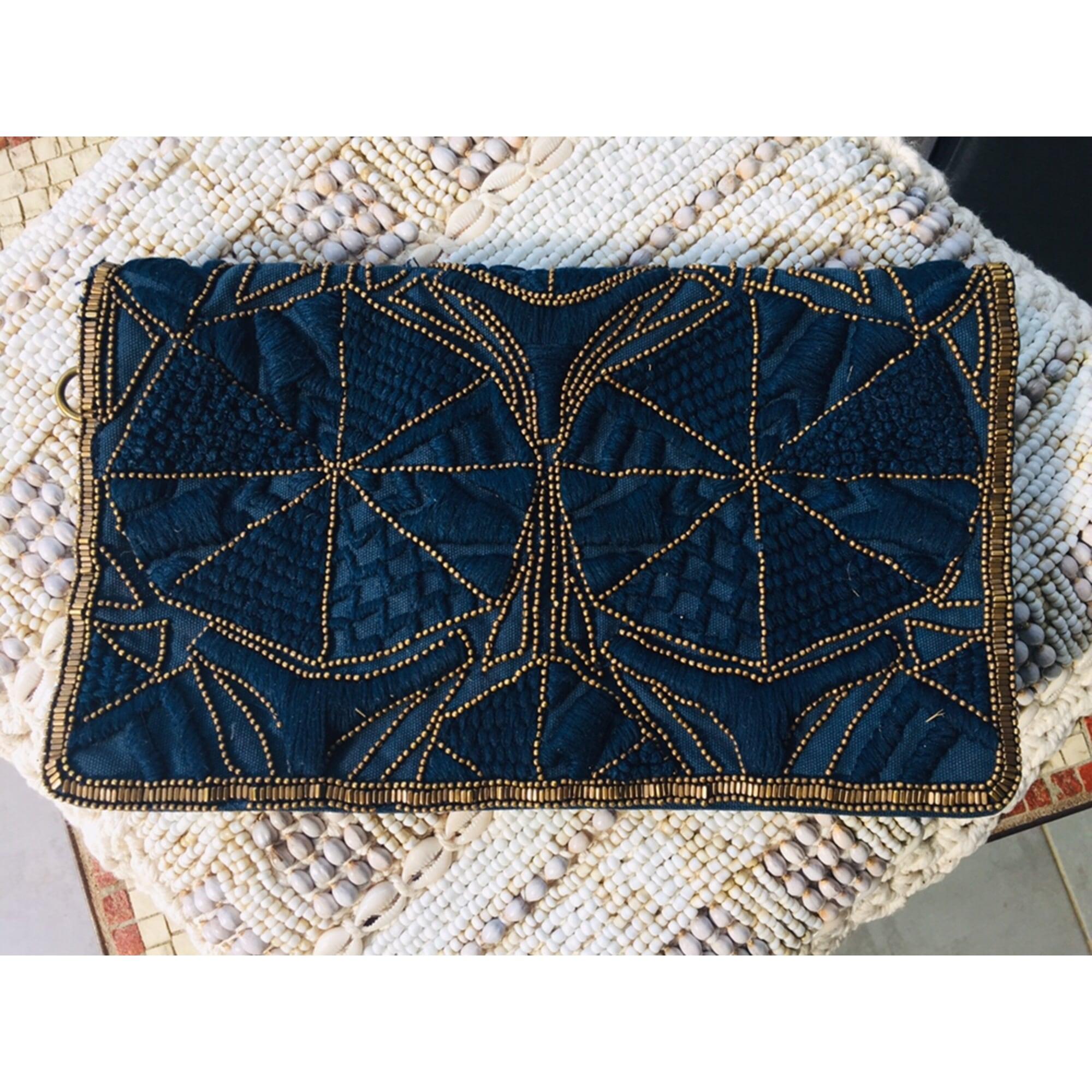 Pochette ASOS cuir bleu