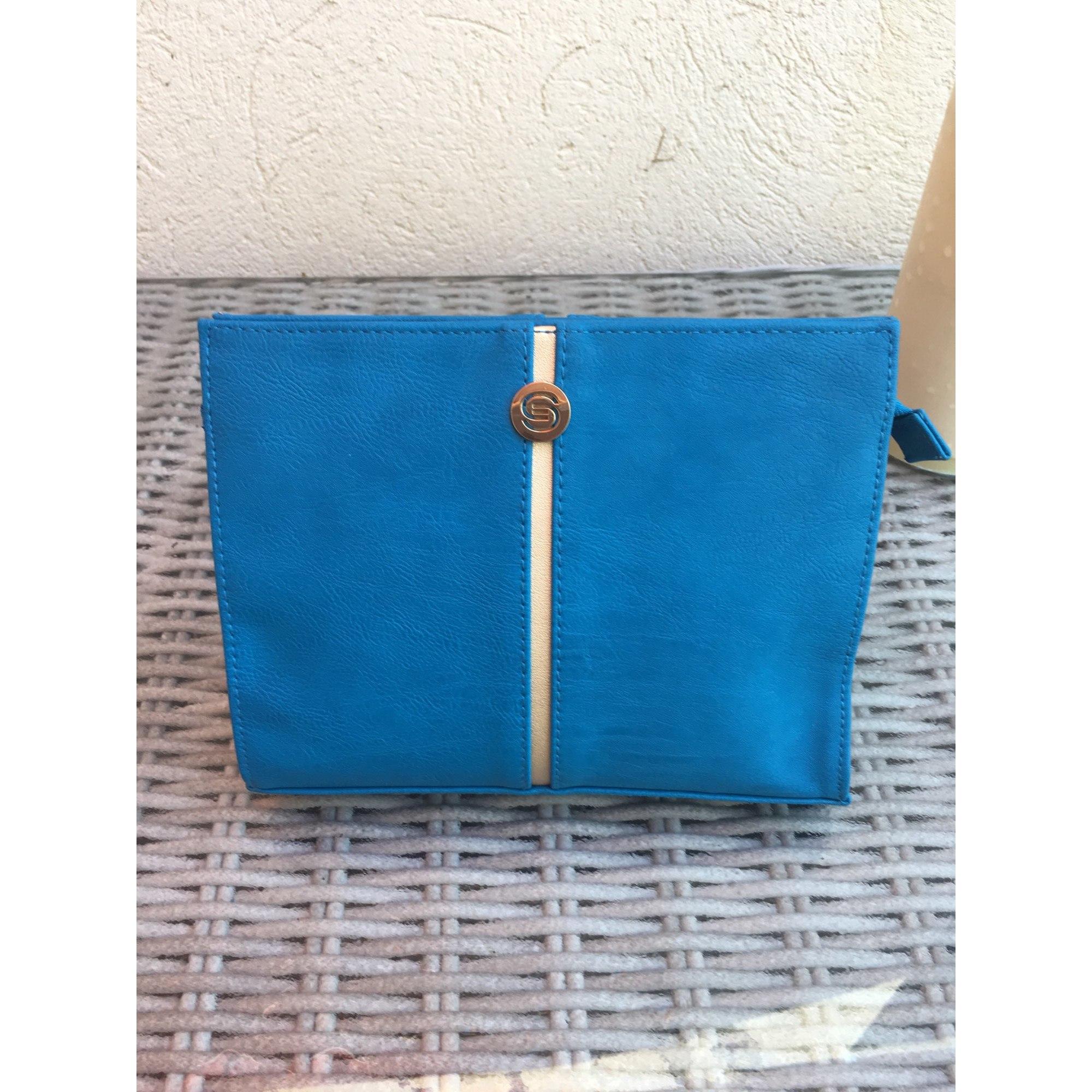 Pochette ELIE SAAB synthétique bleu