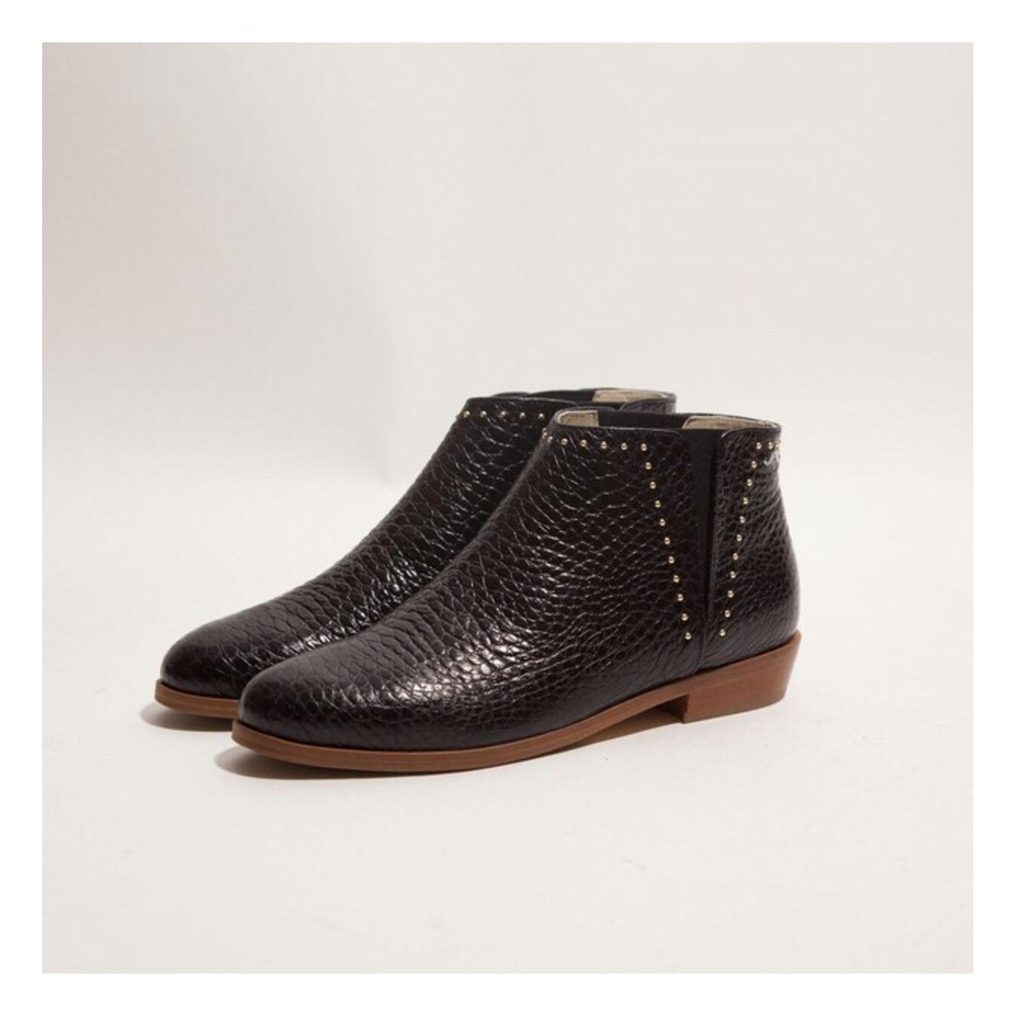 1b68543a2fd Bottines   low boots plates M. MOUSTACHE 39 noir - 8136581
