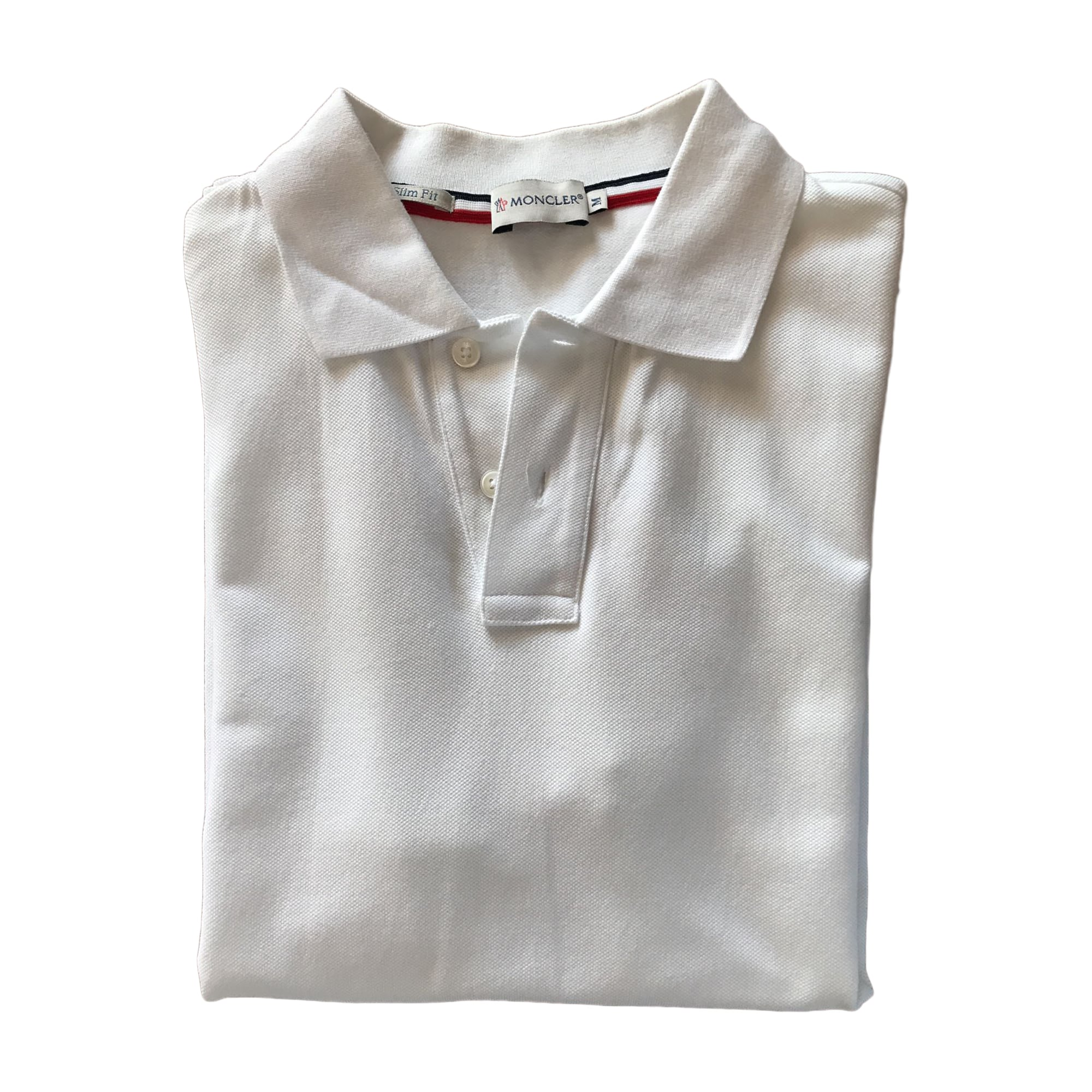 Polo MONCLER White, off-white, ecru