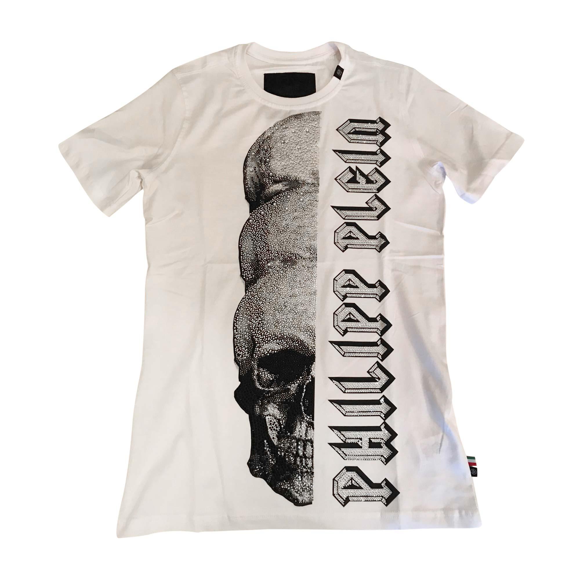 T-shirt PHILIPP PLEIN White, off-white, ecru