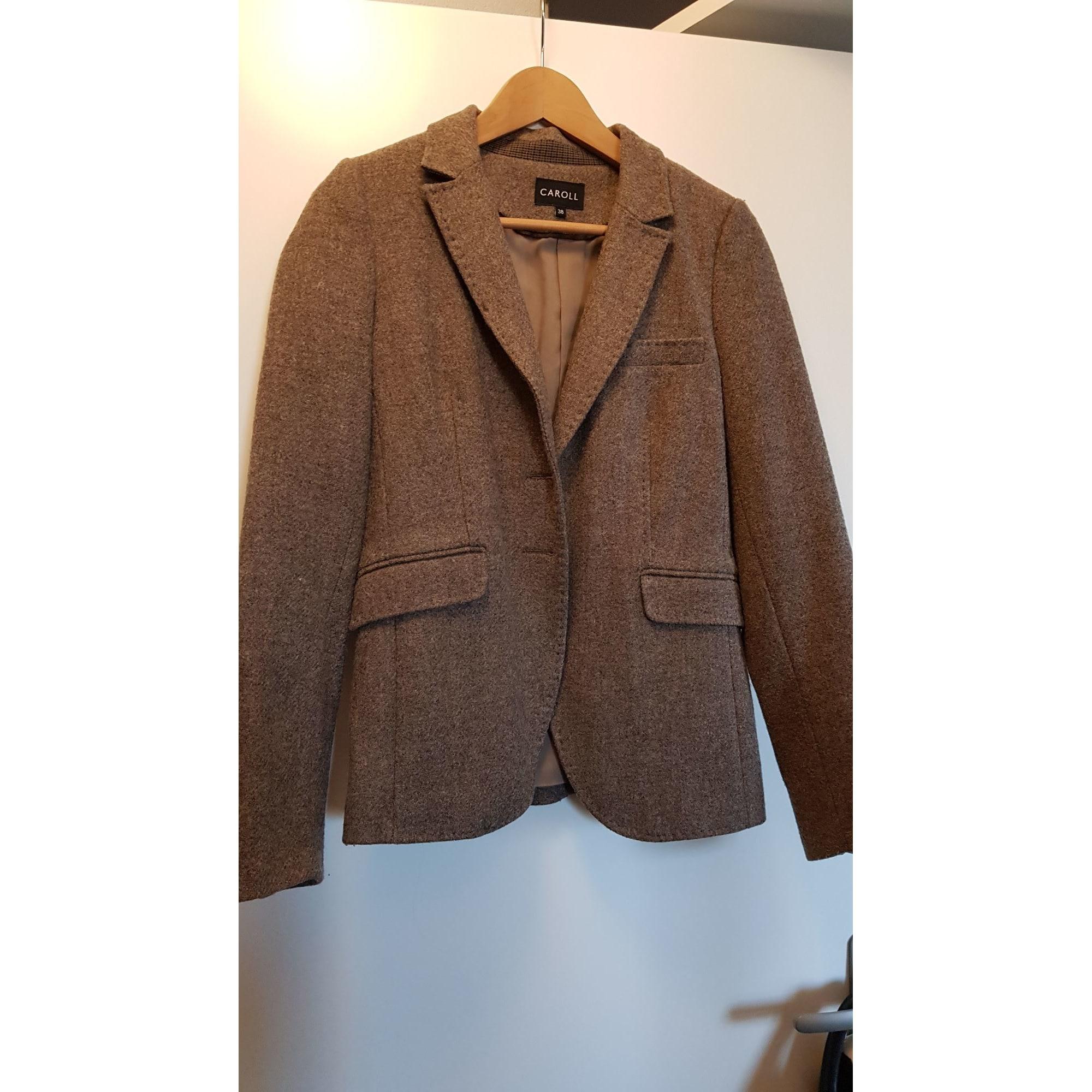 f17f809b64c8 Blazer, veste tailleur CAROLL 38 (M, T2) beige vendu par ...
