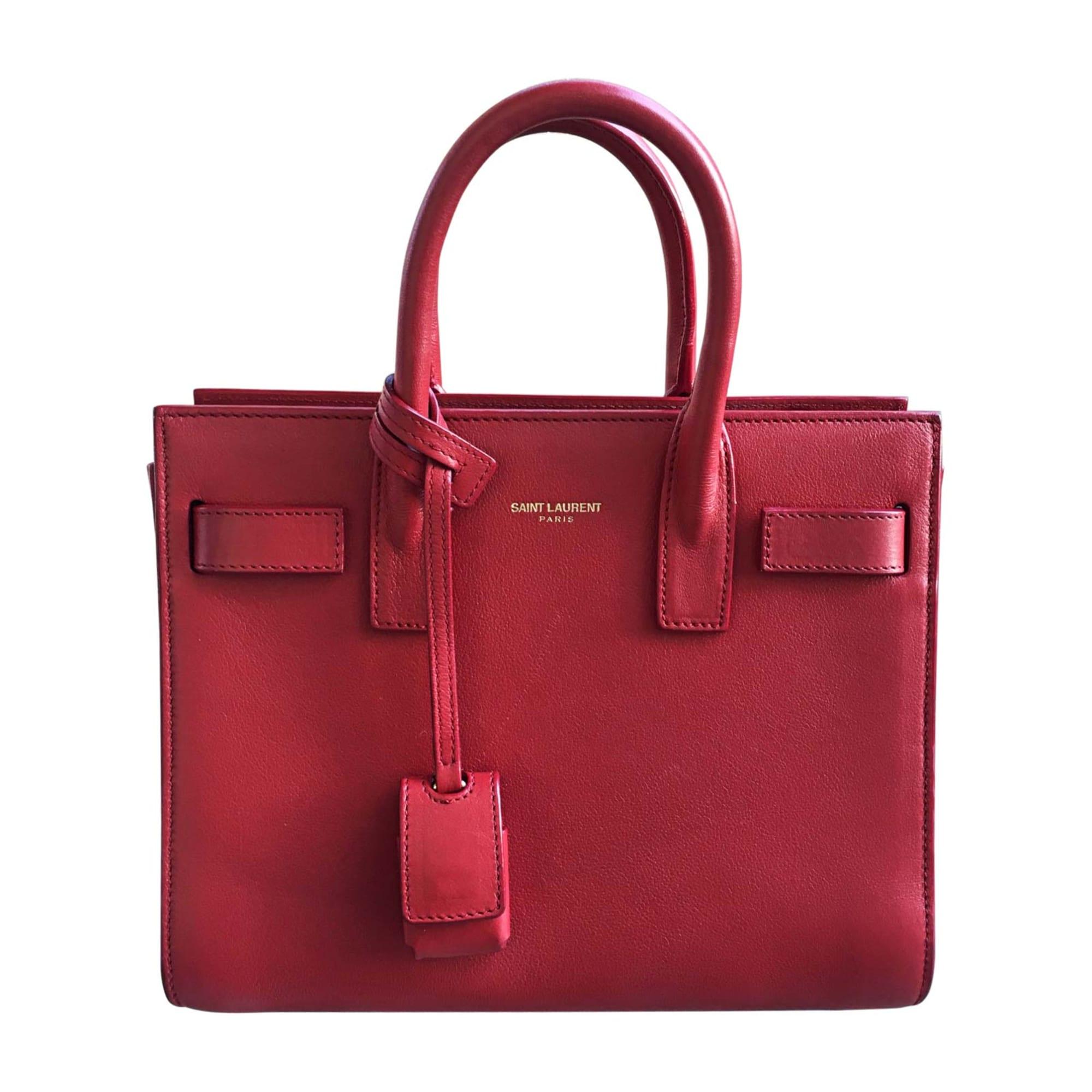 c01603573e Sac en bandoulière en cuir SAINT LAURENT sac de jour rouge vendu par ...
