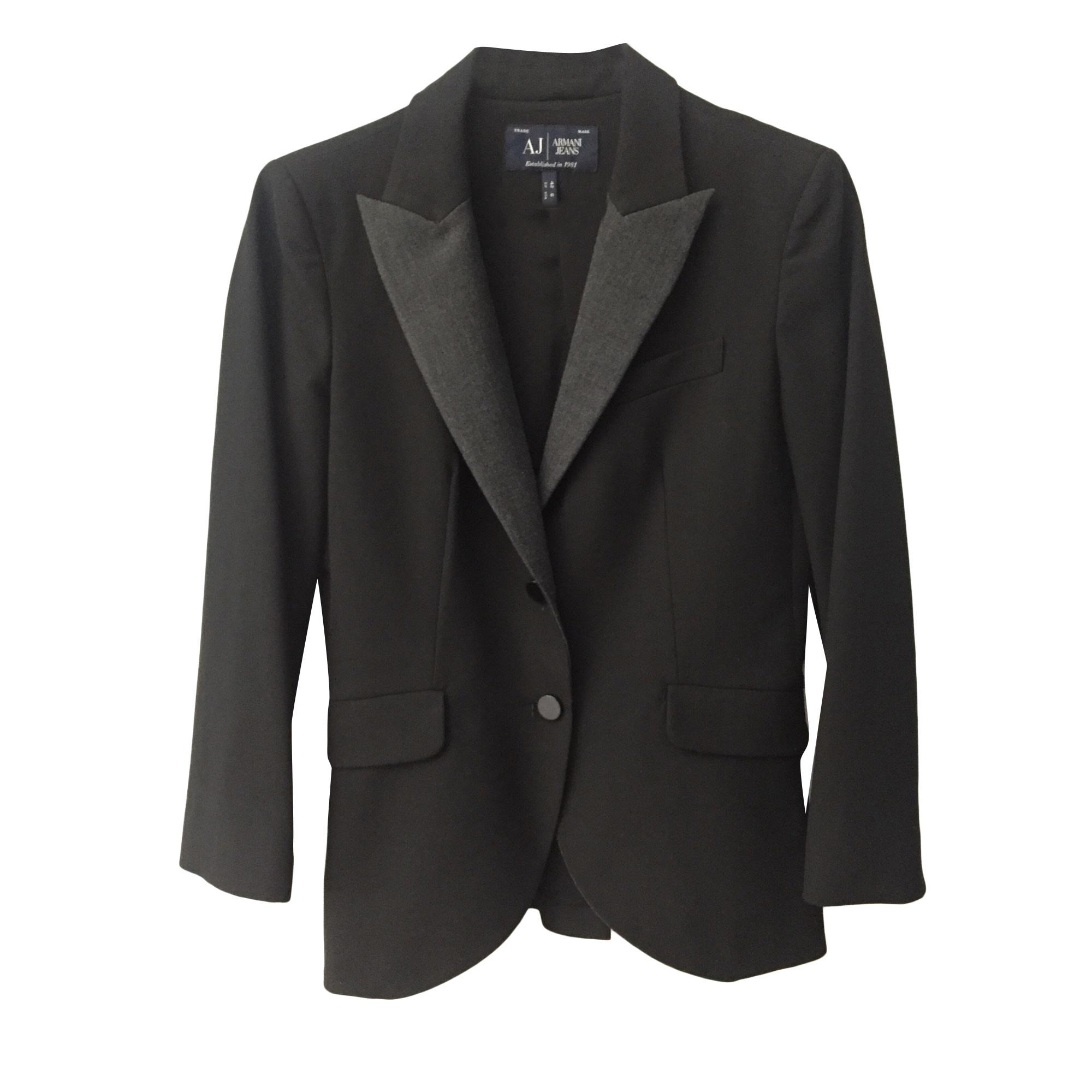Blazer, veste tailleur ARMANI JEANS 38 (M, T2) noir vendu par ... c850b410f56