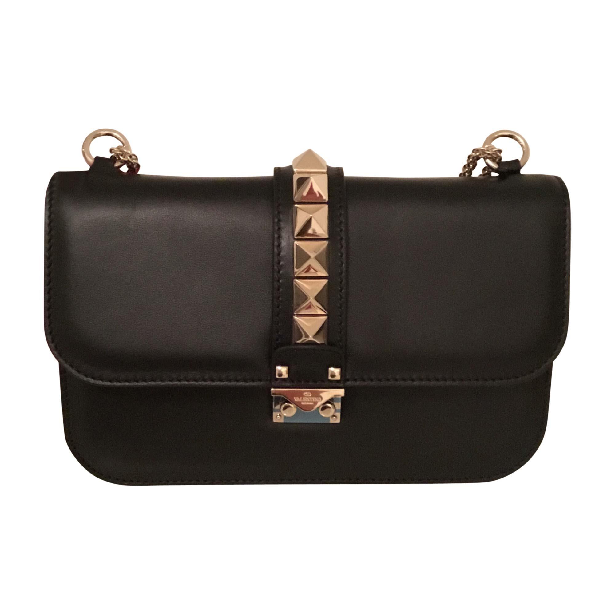 Sac en bandoulière en cuir VALENTINO glam lock noir - 8185568 9068c86eb72