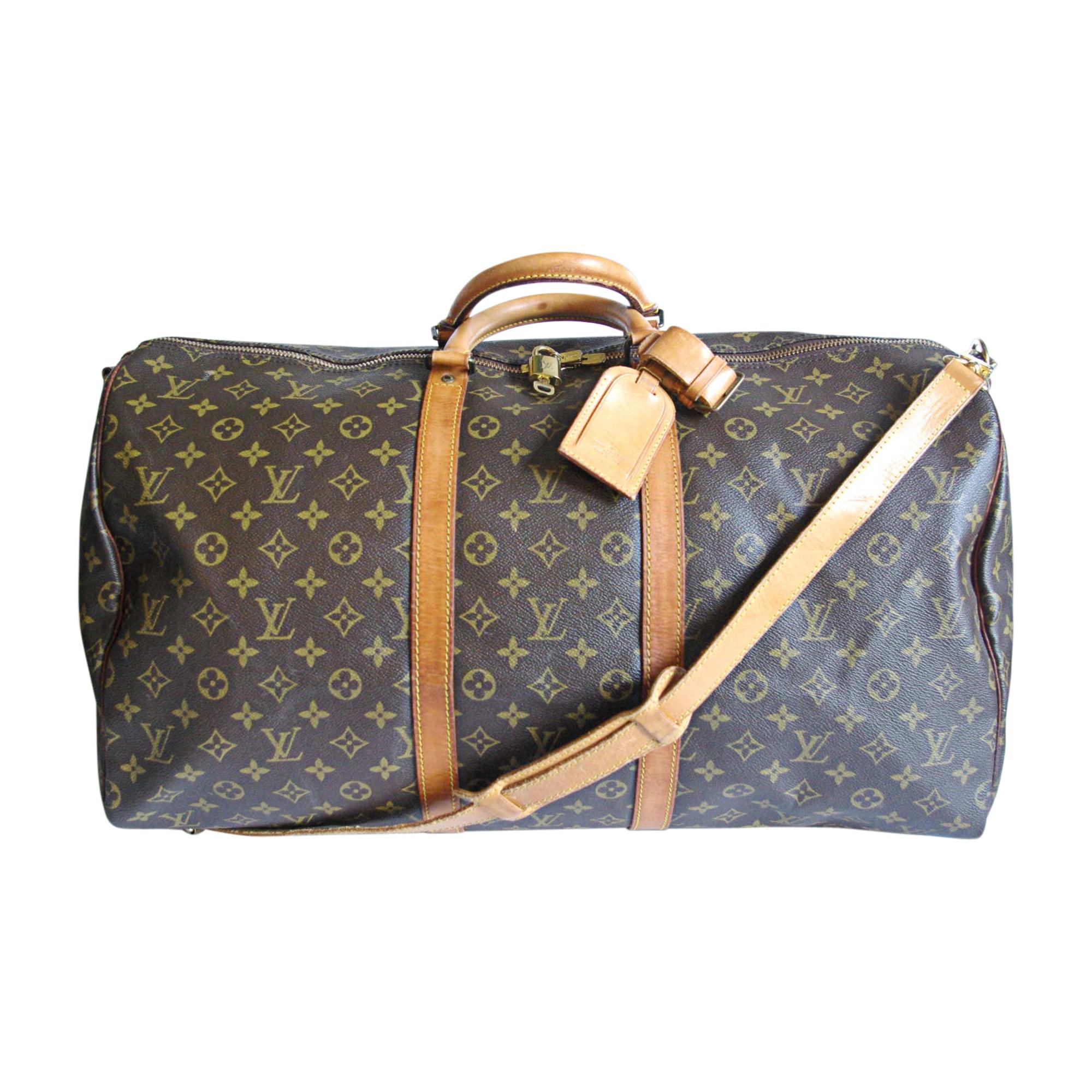 Sac XL en cuir LOUIS VUITTON keepall marron vendu par L-comme-luxe ... 500eb73435a