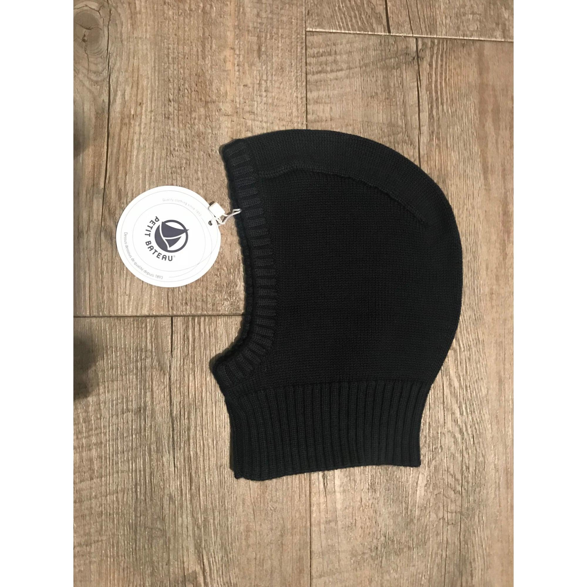 f92ce341f9bd Bonnet PETIT BATEAU laine bleu 3 mois