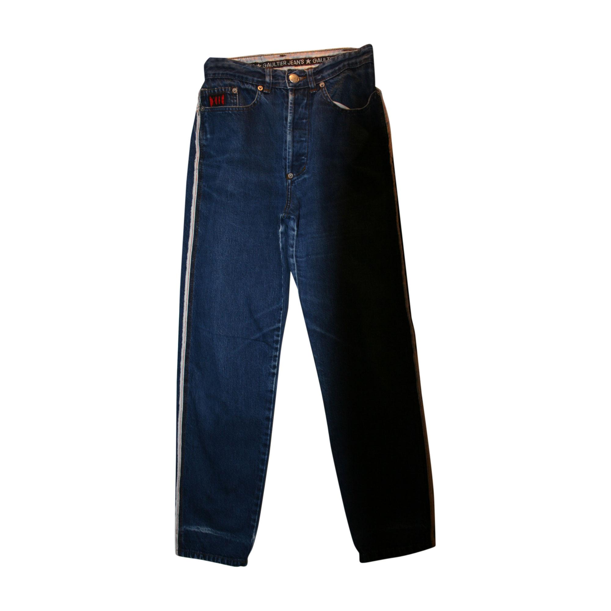 Pantalon droit JEAN PAUL GAULTIER Bleu, bleu marine, bleu turquoise