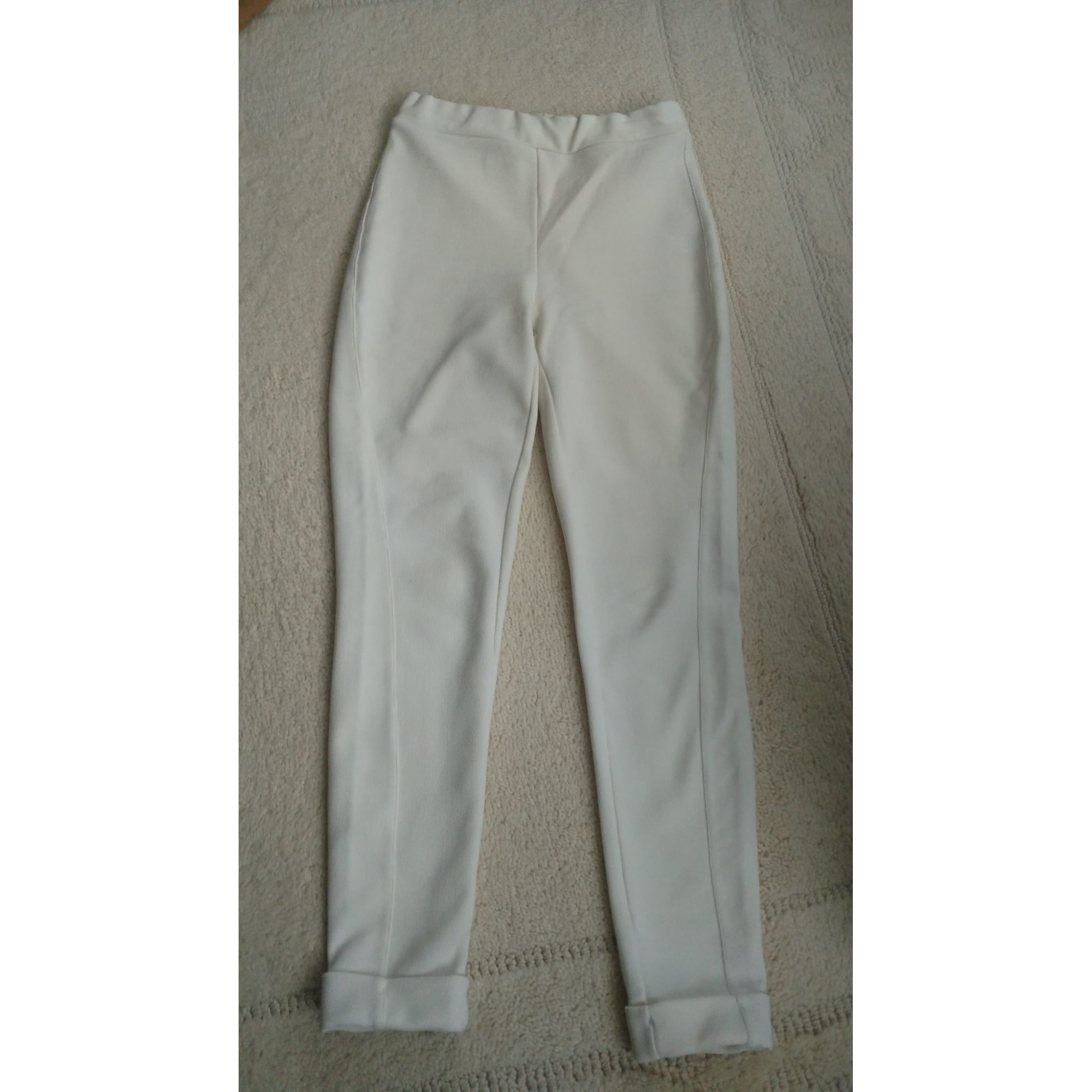 Pantalon slim, cigarette ALAIN MANOUKIAN Blanc, blanc cassé, écru
