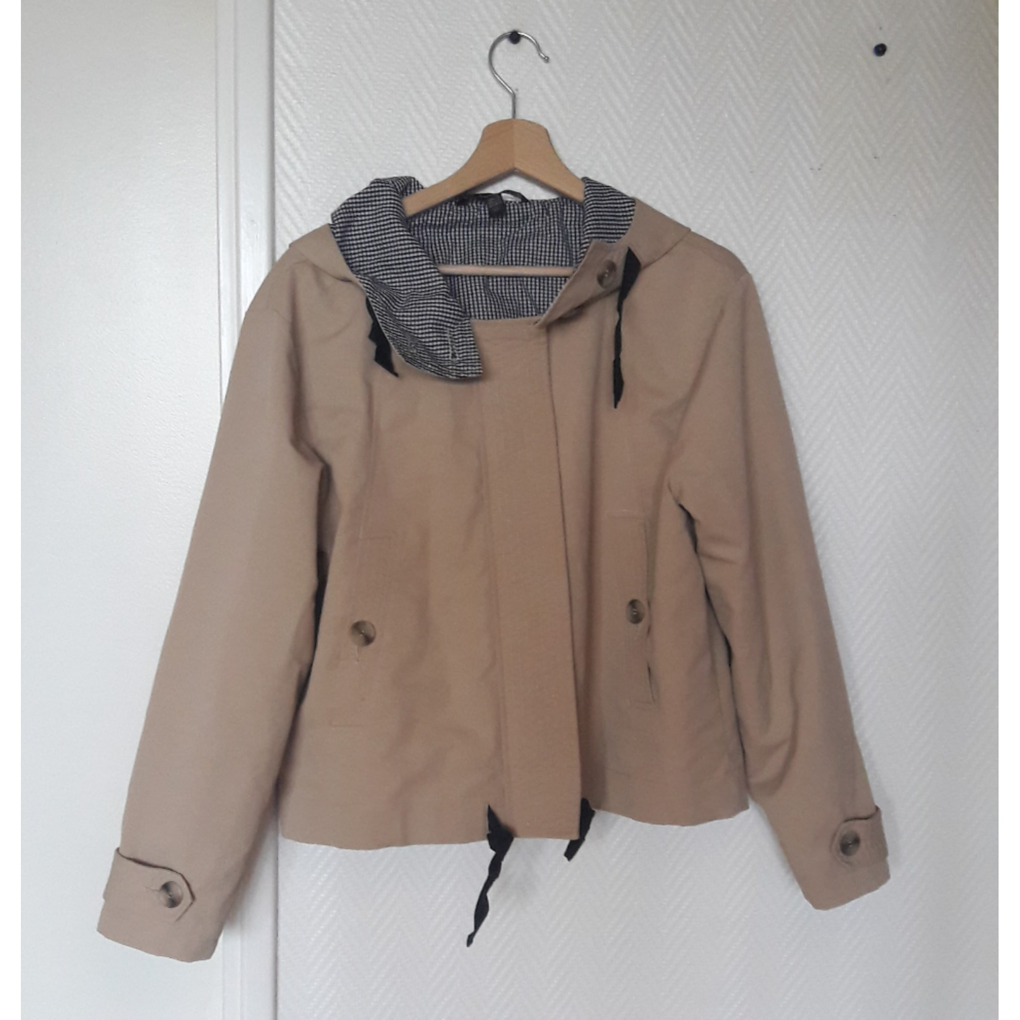 trench beige L ZARA 8213443 40 Imperméable T3 dH70Ud