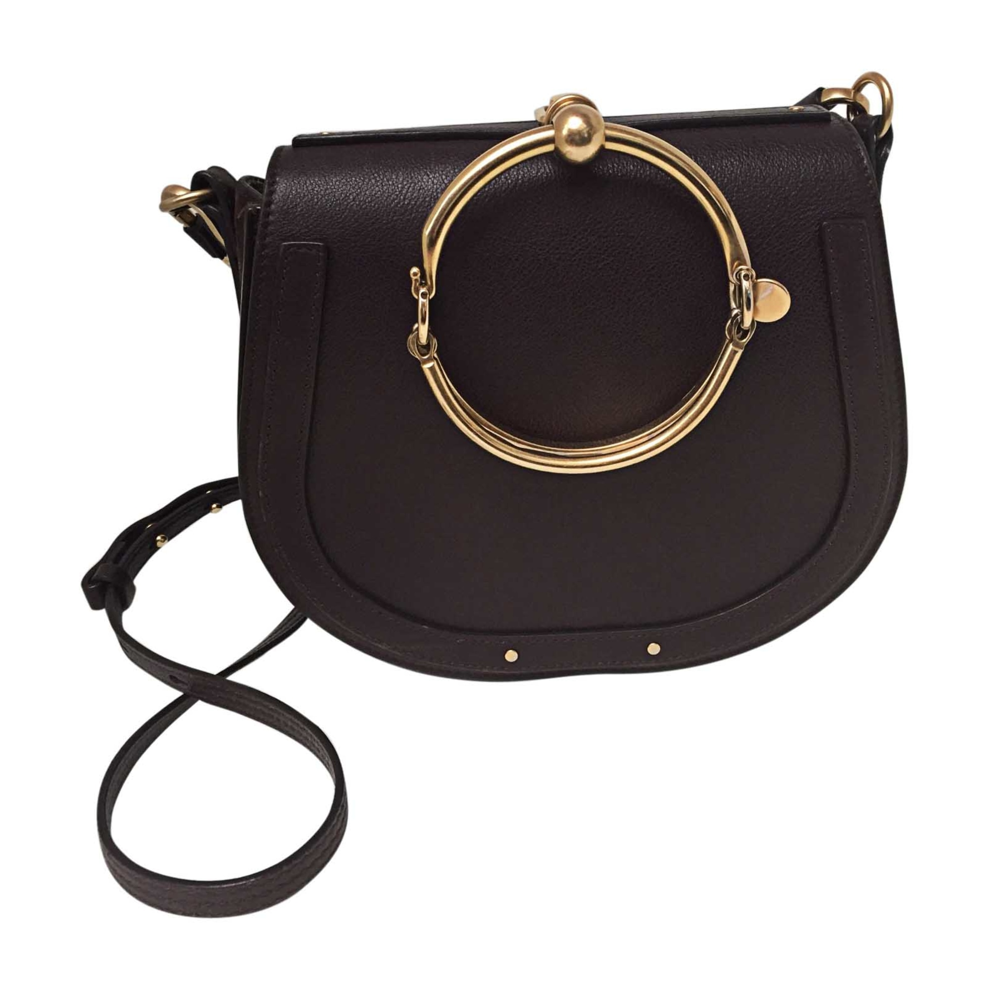 Leather Shoulder Bag CHLOÉ Prune