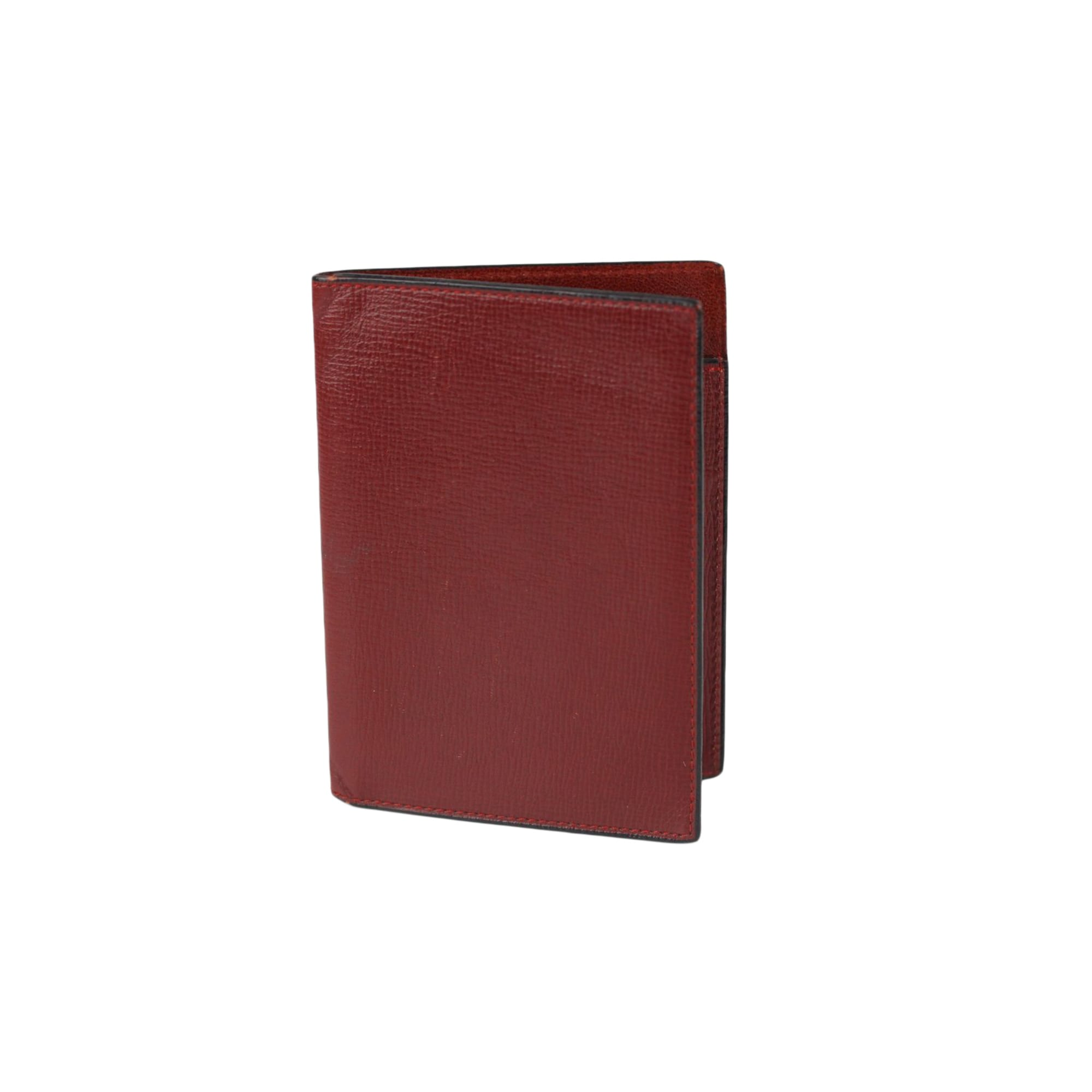 Portefeuille VALEXTRA cuir rouge