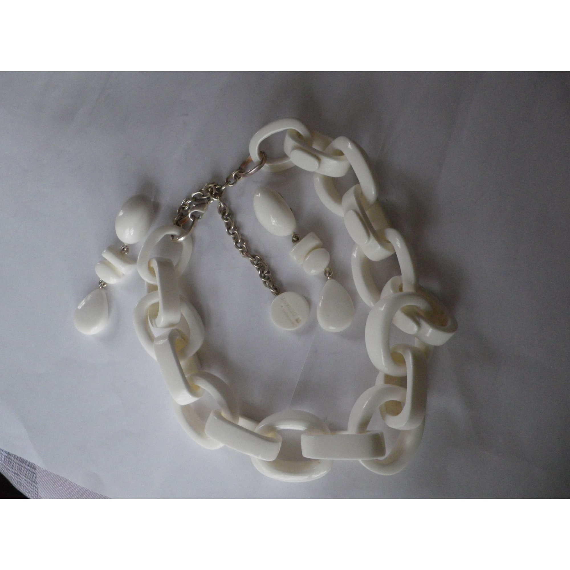 Parure bijoux DOMINIQUE DENAIVE résine blanc