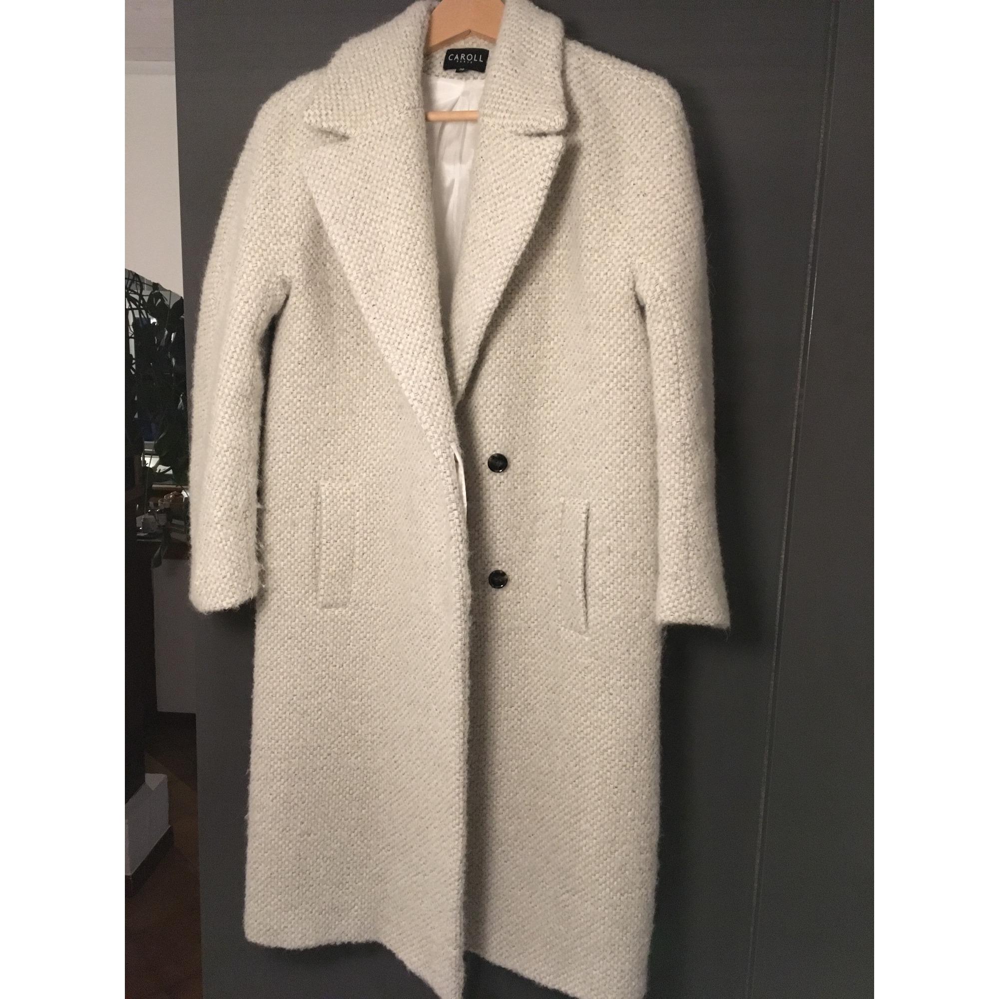 Manteau CAROLL 38 (M, T2) blanc vendu par Ya - 8220252 f2c22c84b73