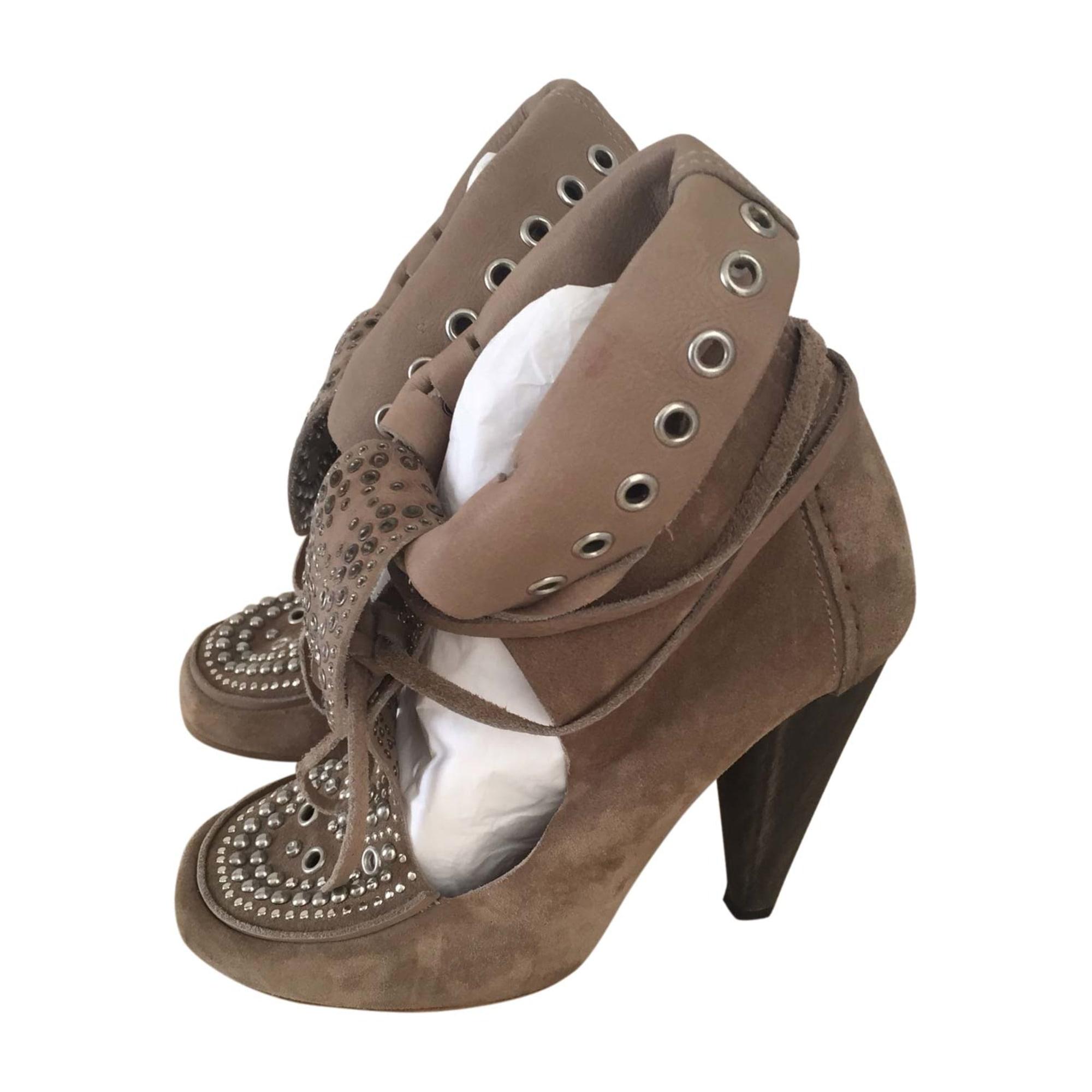Bottines & low boots à talons ISABEL MARANT Beige, camel