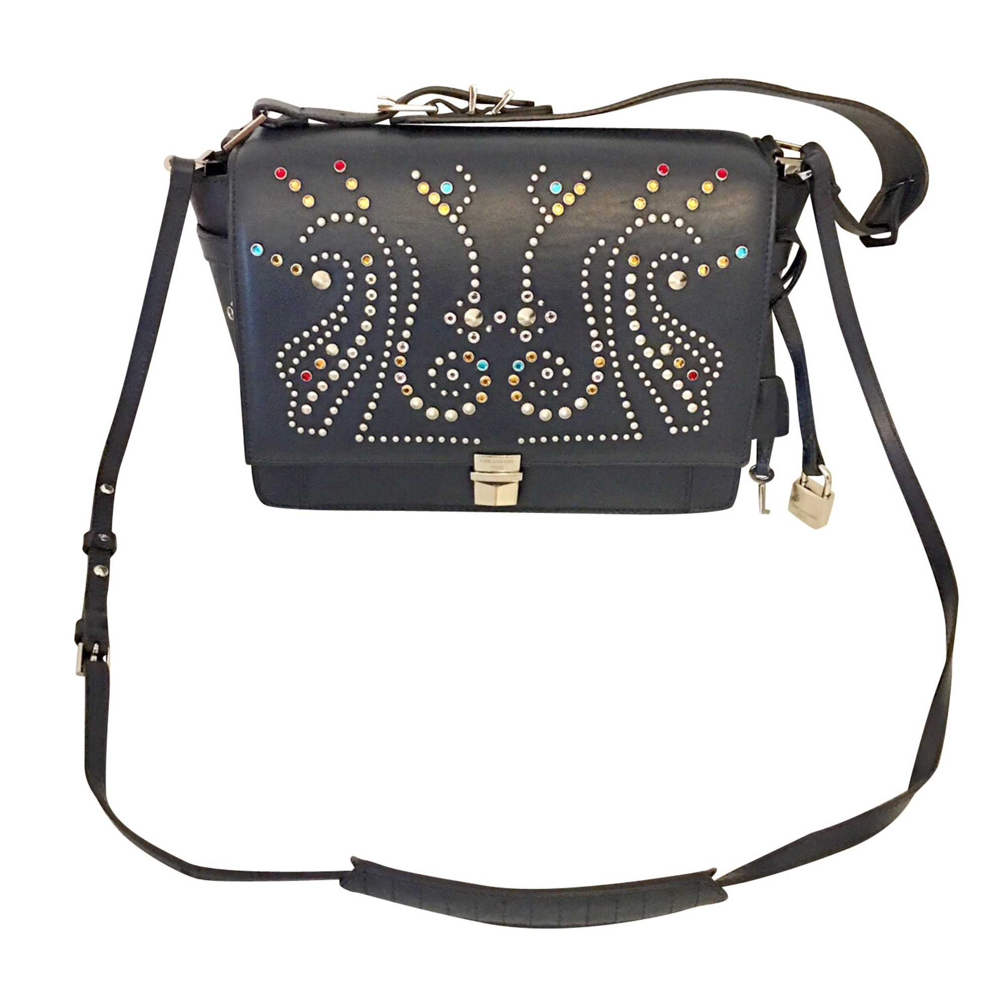Leather Shoulder Bag ZADIG & VOLTAIRE Bleu marine