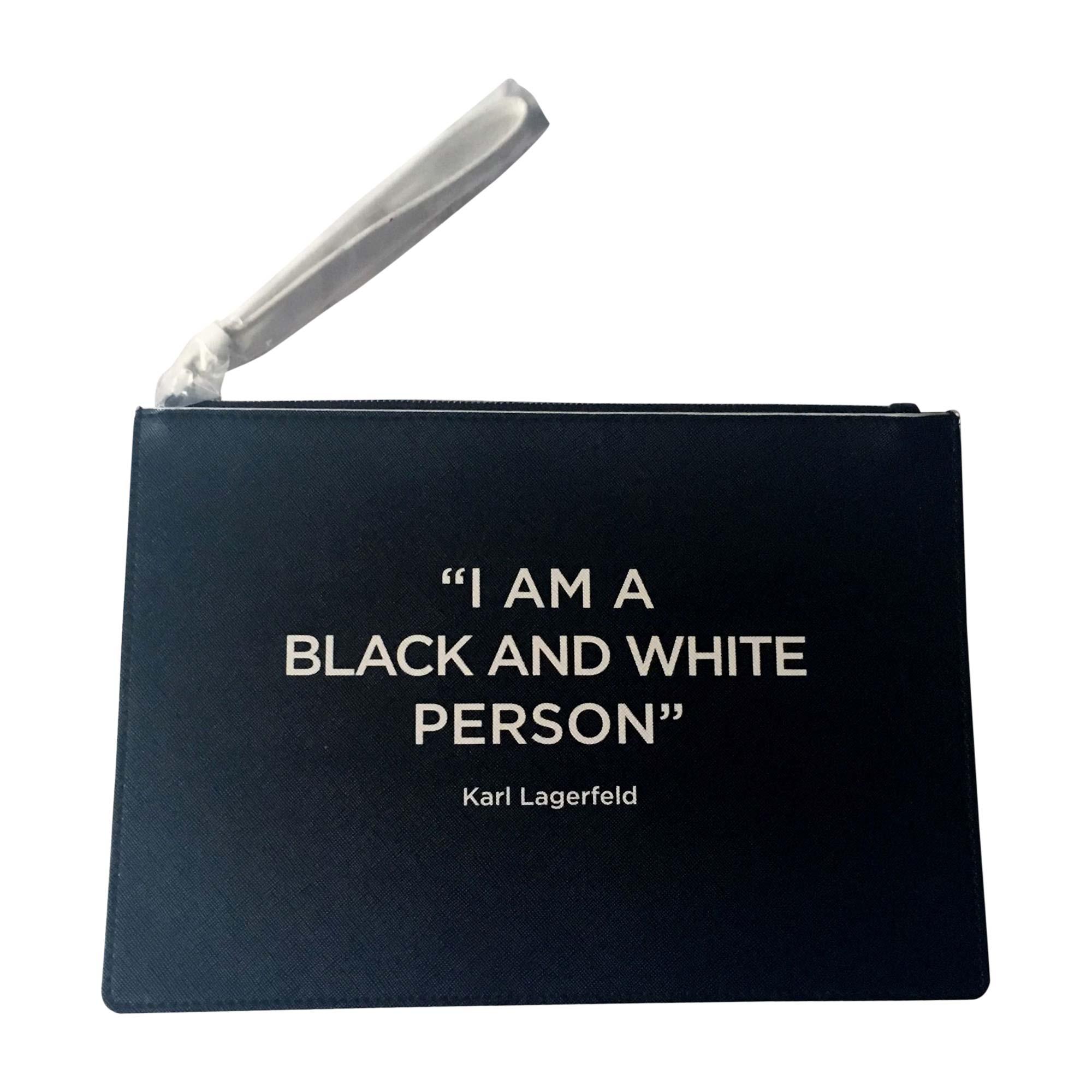 Sac pochette en cuir KARL LAGERFELD Noir