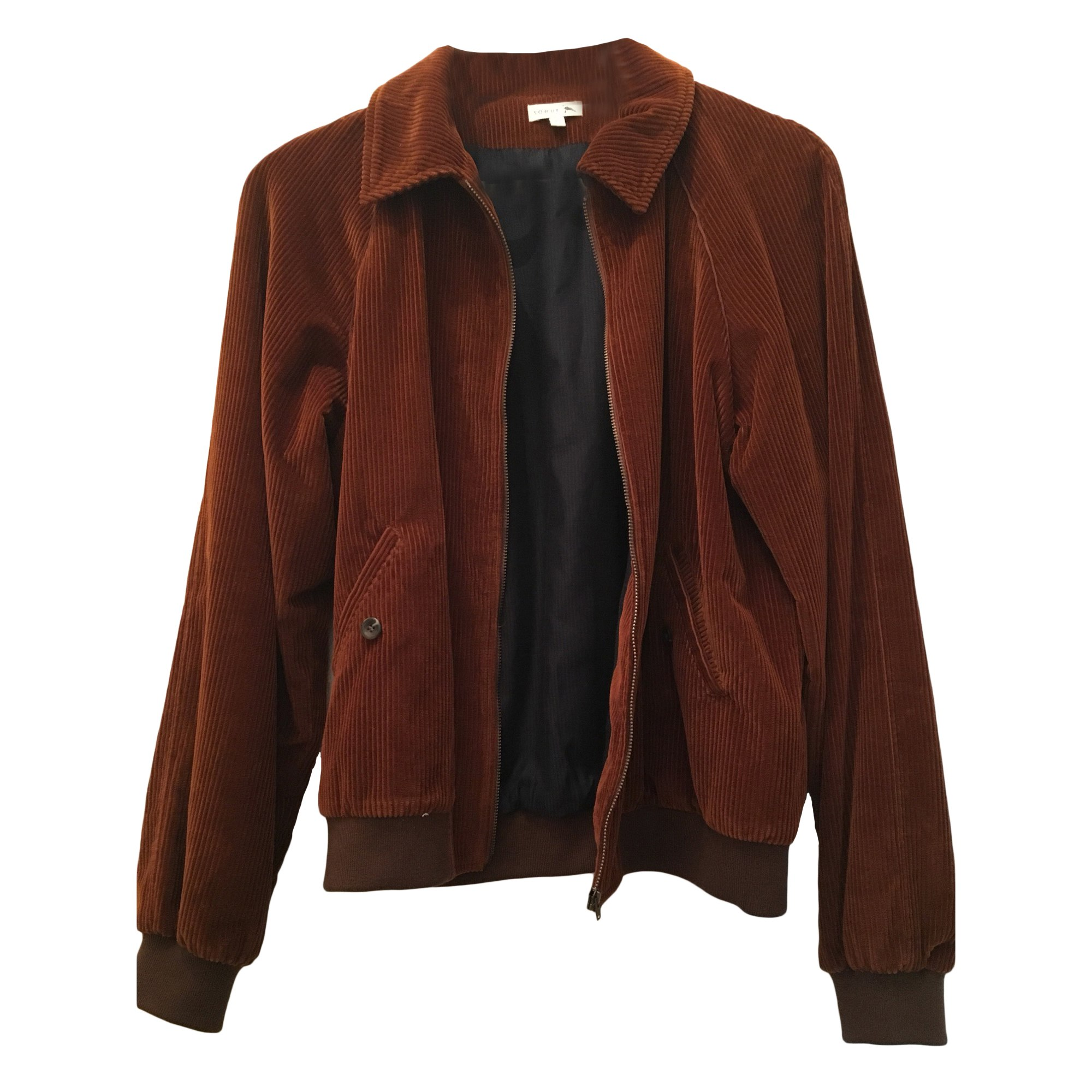 Zipped Jacket SOEUR Brown