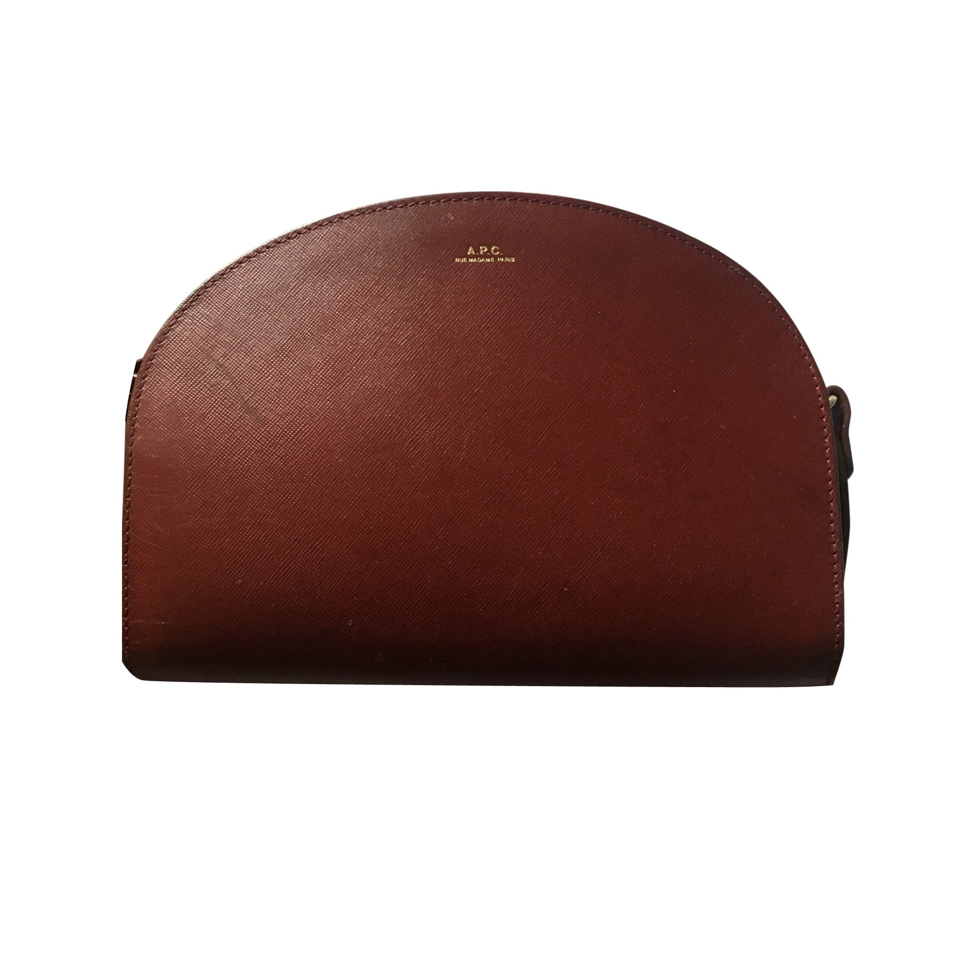 Leather Handbag A.P.C. Red, burgundy