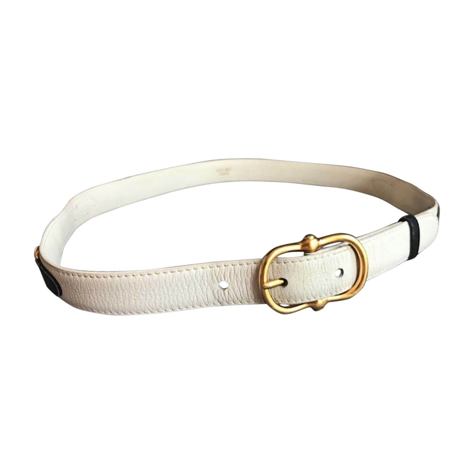 Skinny Belt CÉLINE White, off-white, ecru