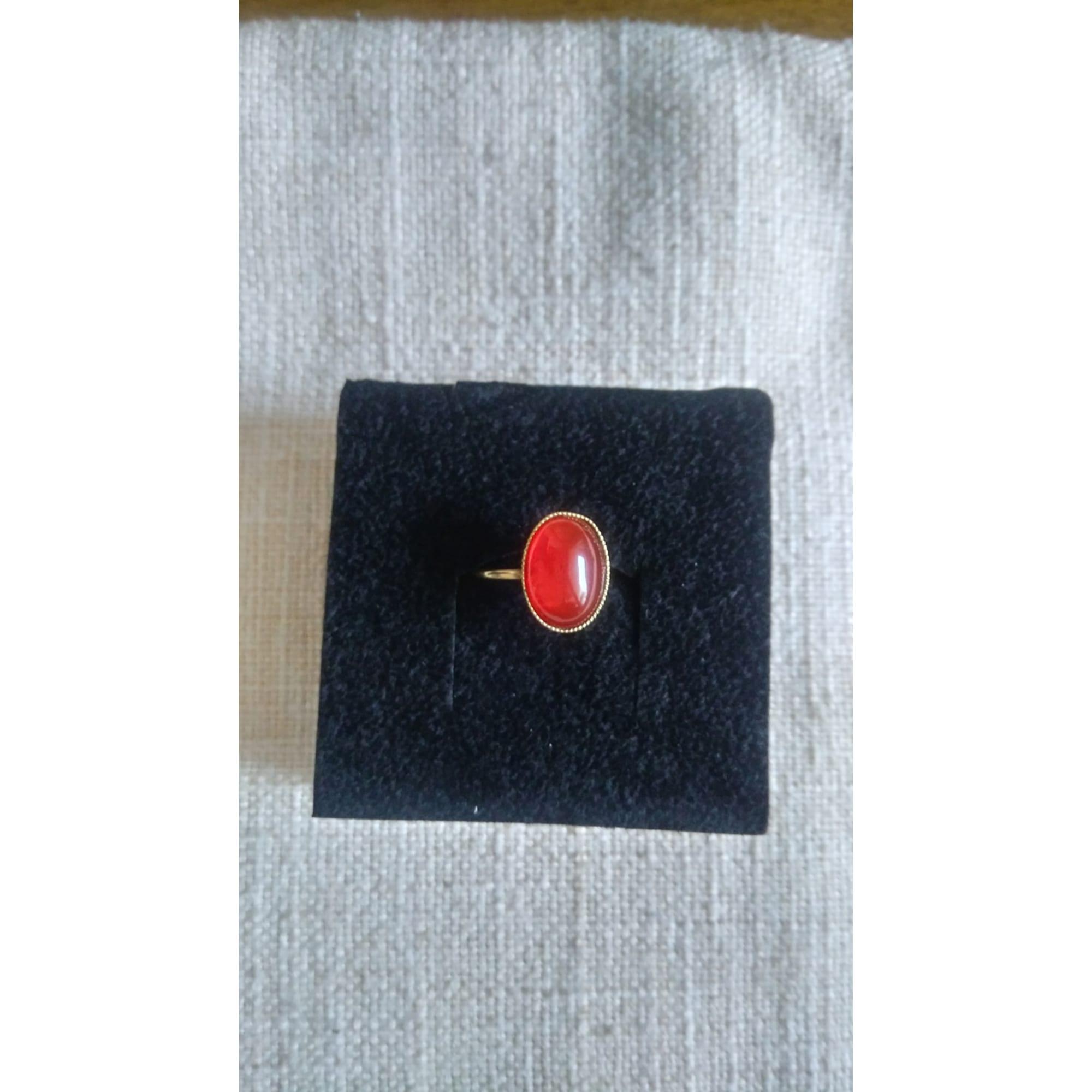 Bague DEAR CHARLOTTE plaqué or rouge 50