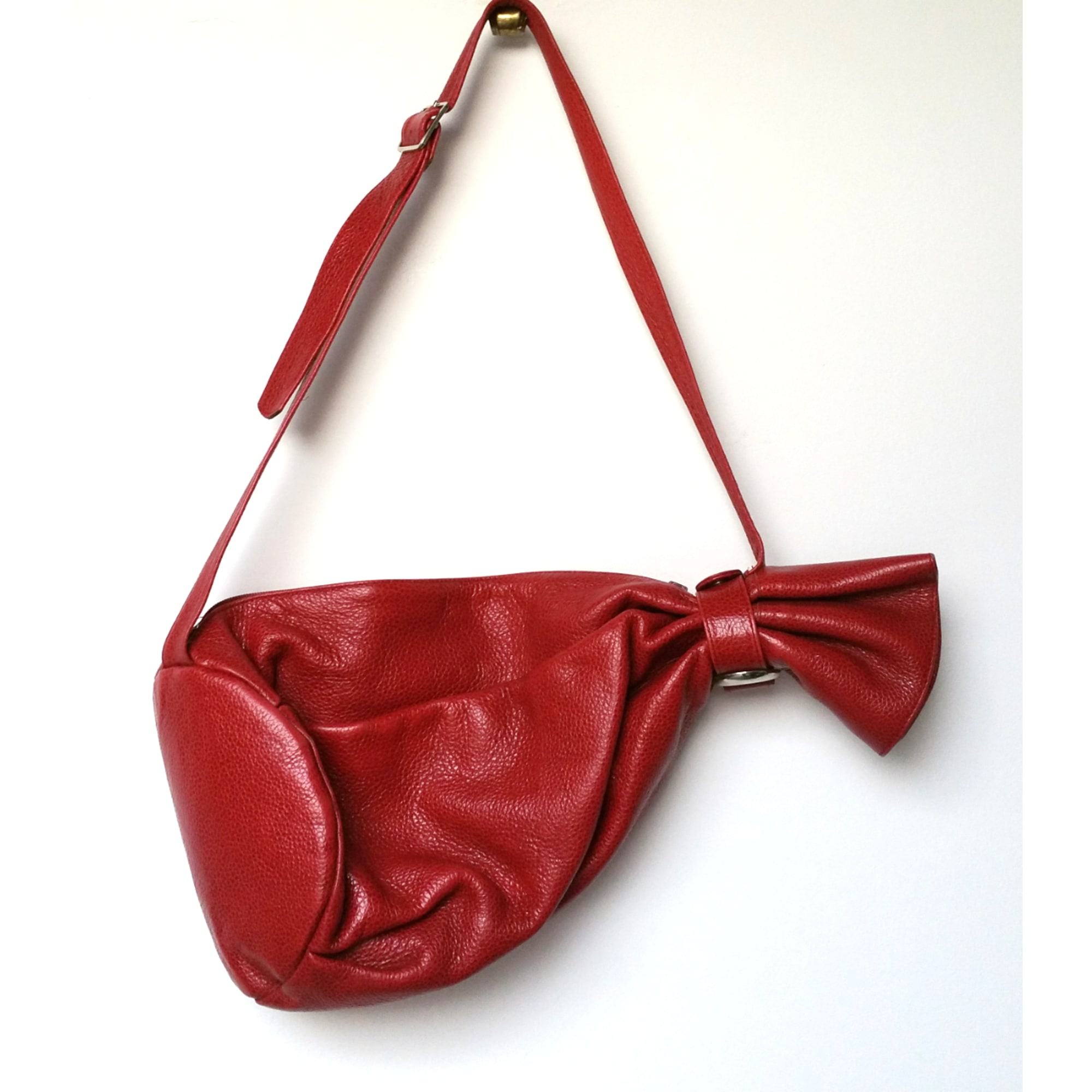 Sac à main en cuir GROOM cuir rouge