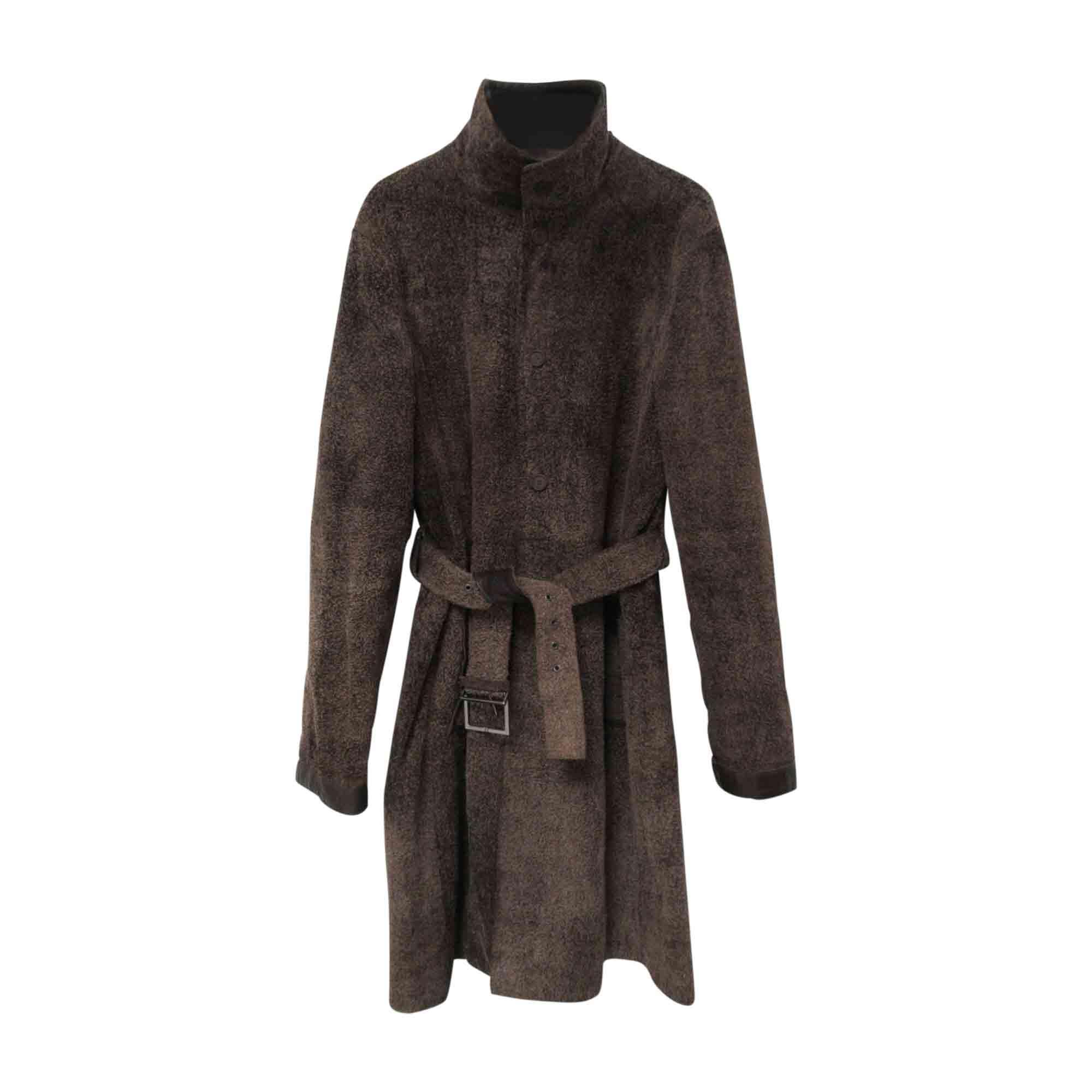 Manteau VERSACE 50 (M) marron vendu par 22vintageapartment - 8256999 1eaeb662fd0