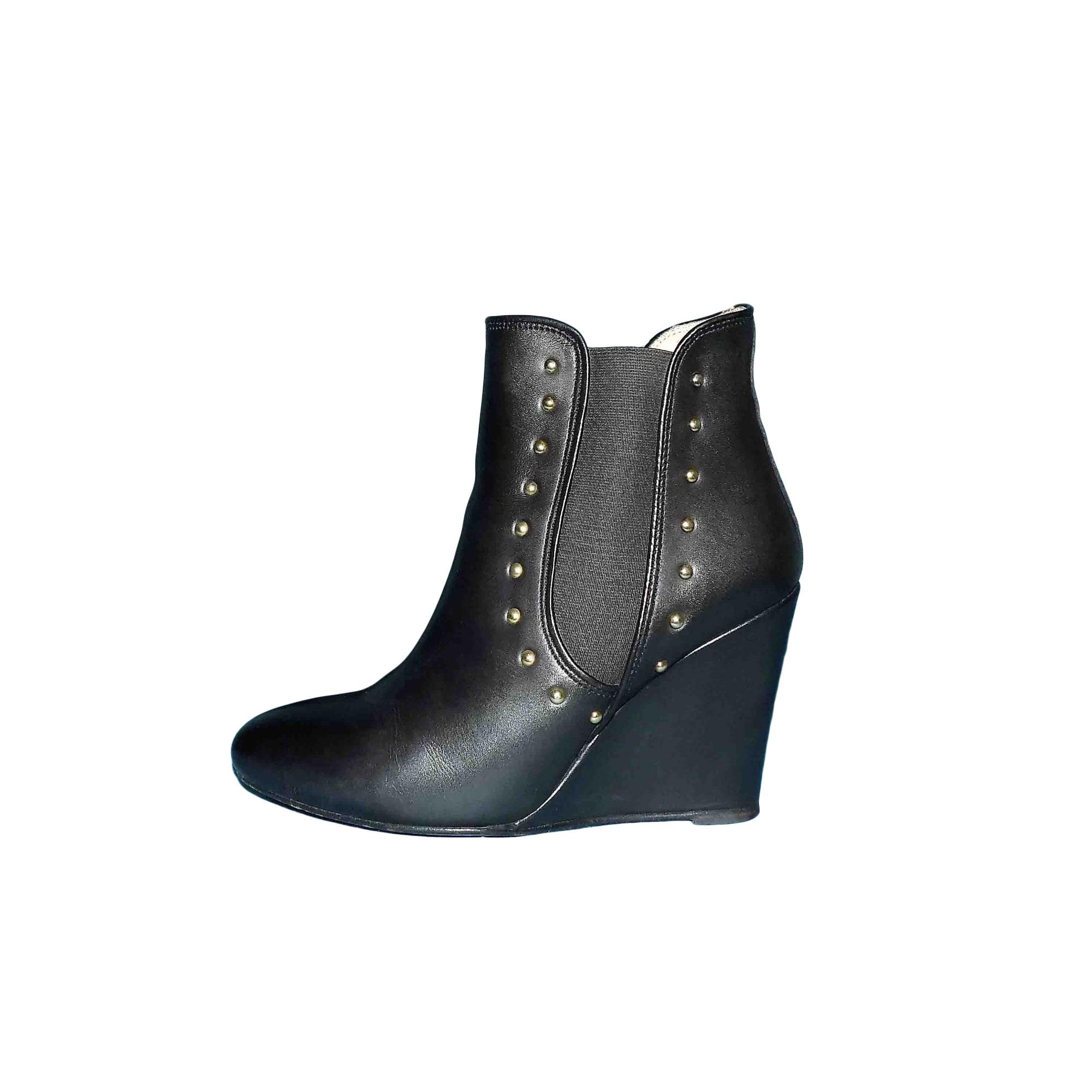Bottines & low boots à compensés PABLO PAR GÉRARD DAREL Noir
