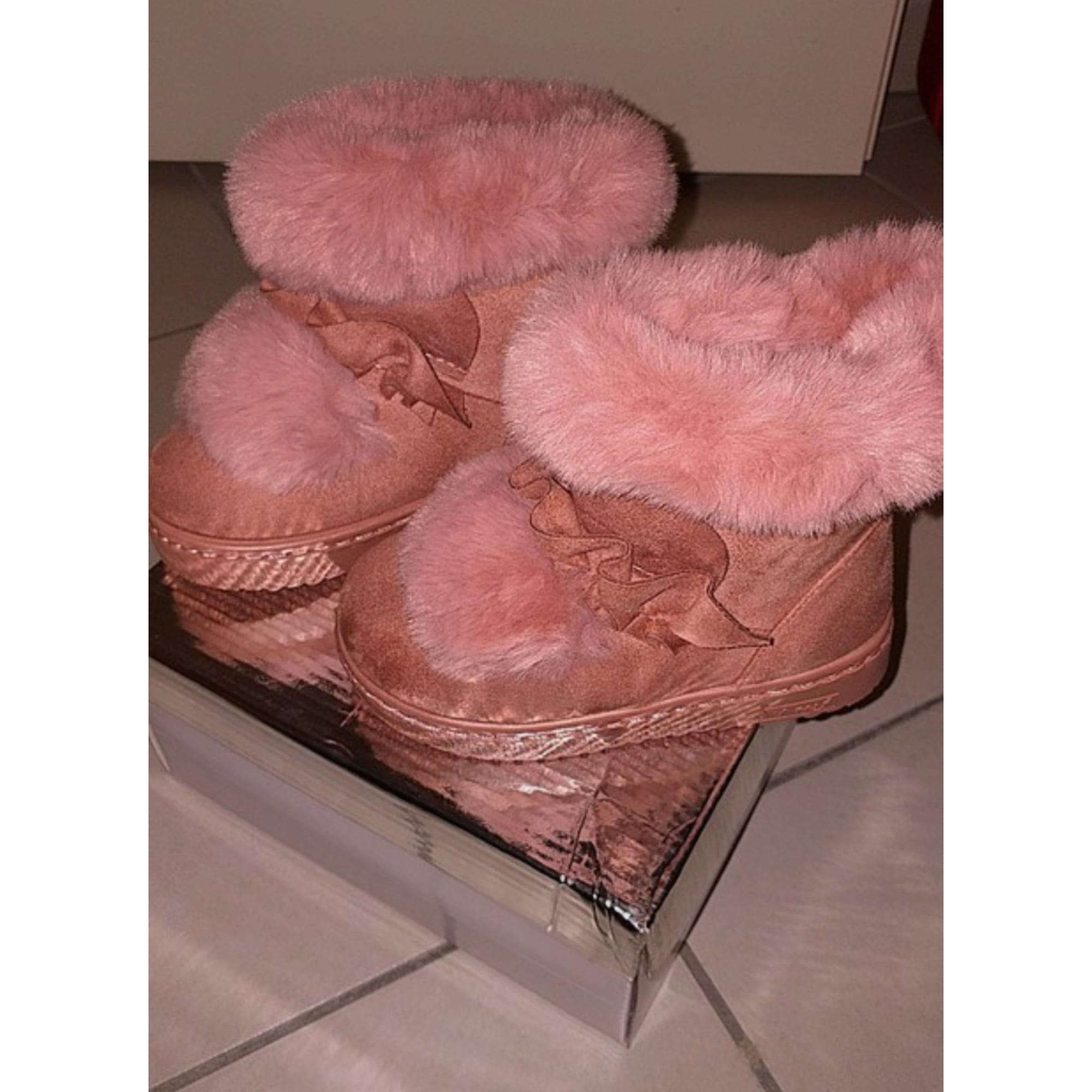 Bottes LEEA KID'S synthétique rose 25