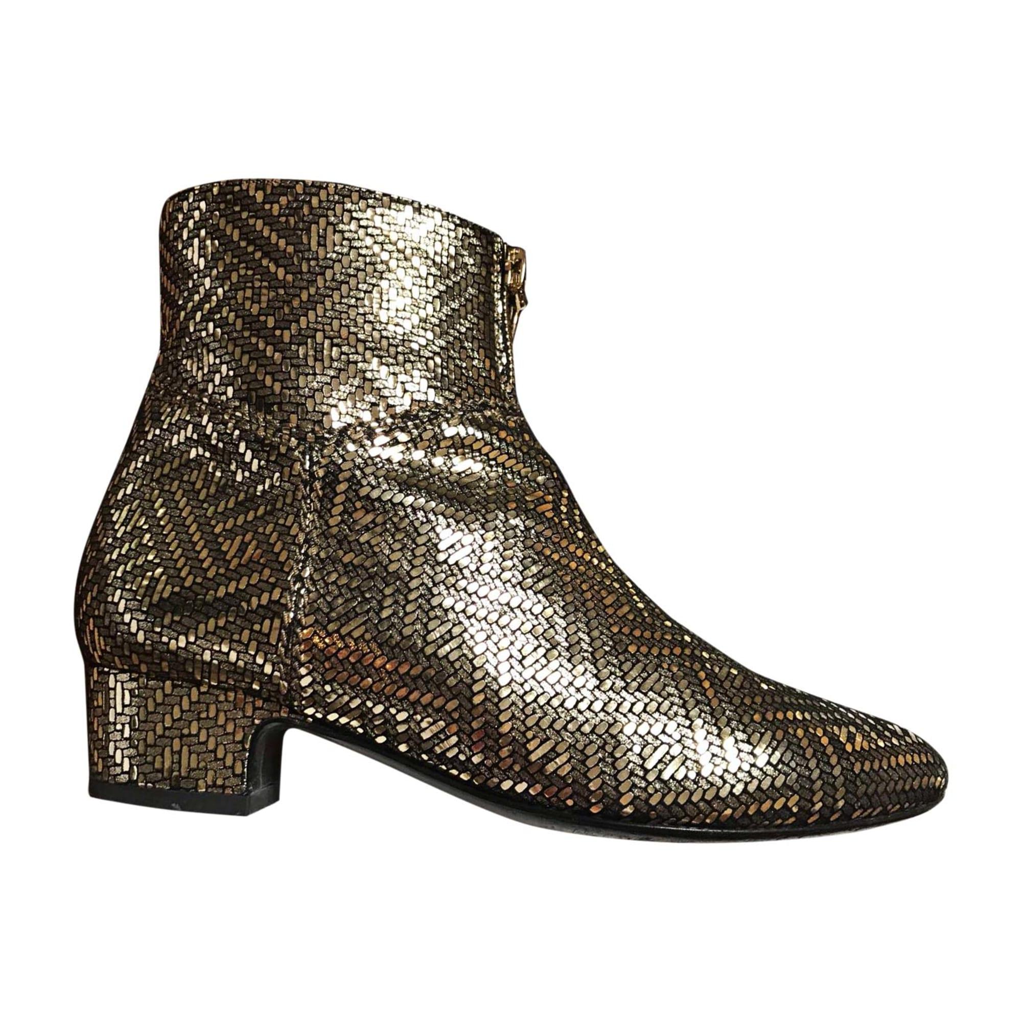 Bottines & low boots plates MICHEL VIVIEN Doré, bronze, cuivre