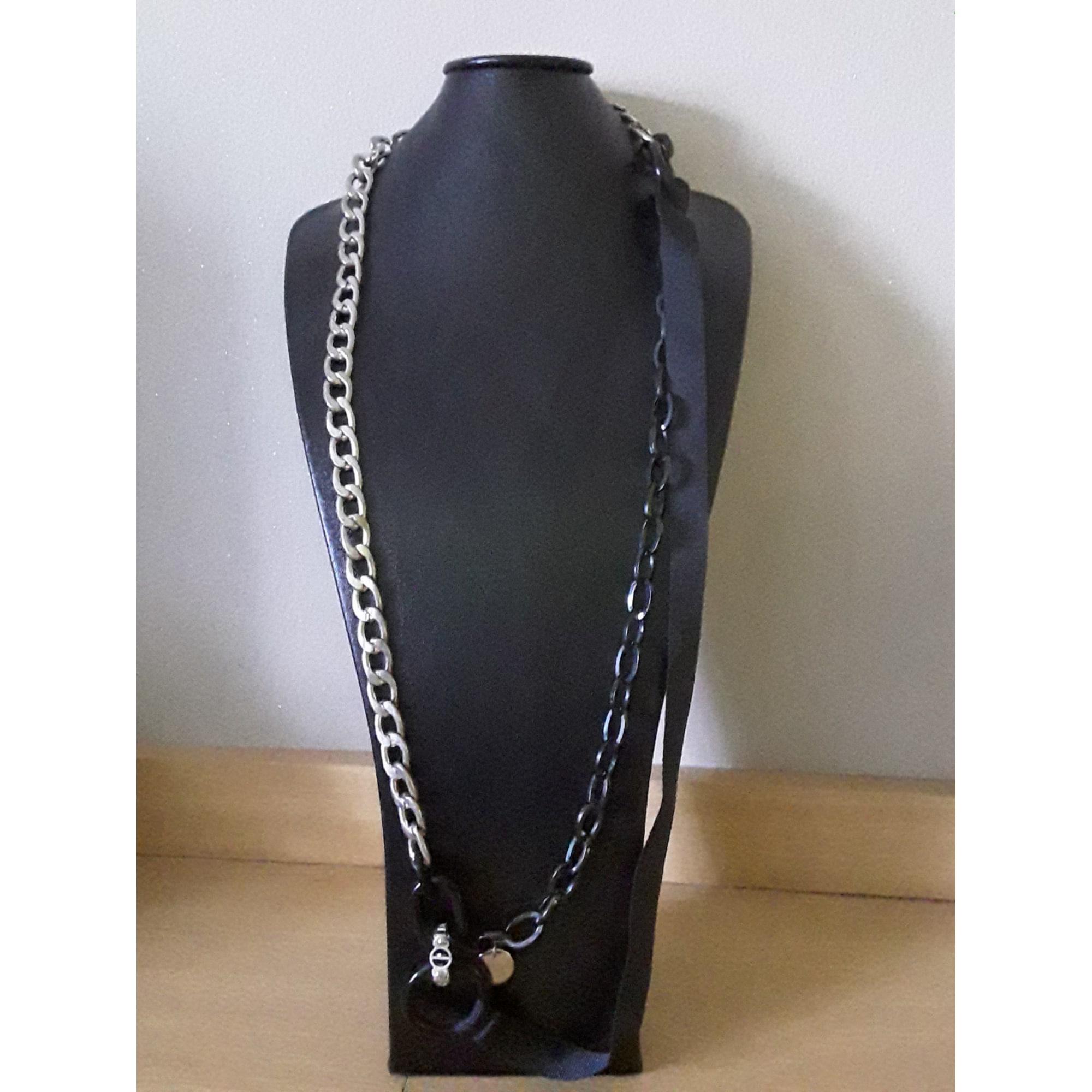 Sautoir JAVA chrome noir
