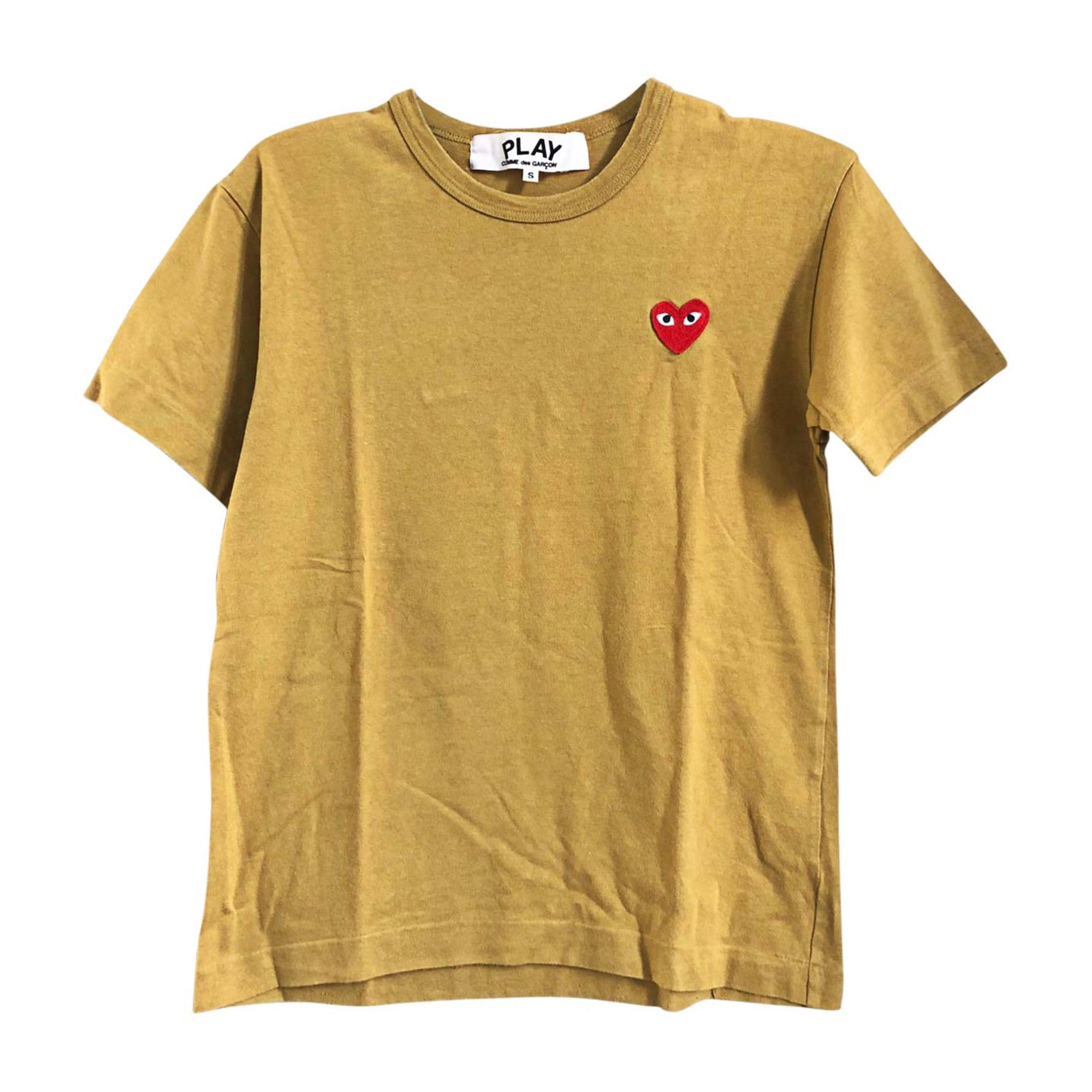 T-shirt COMME DES GARÇONS PLAY Moutarde
