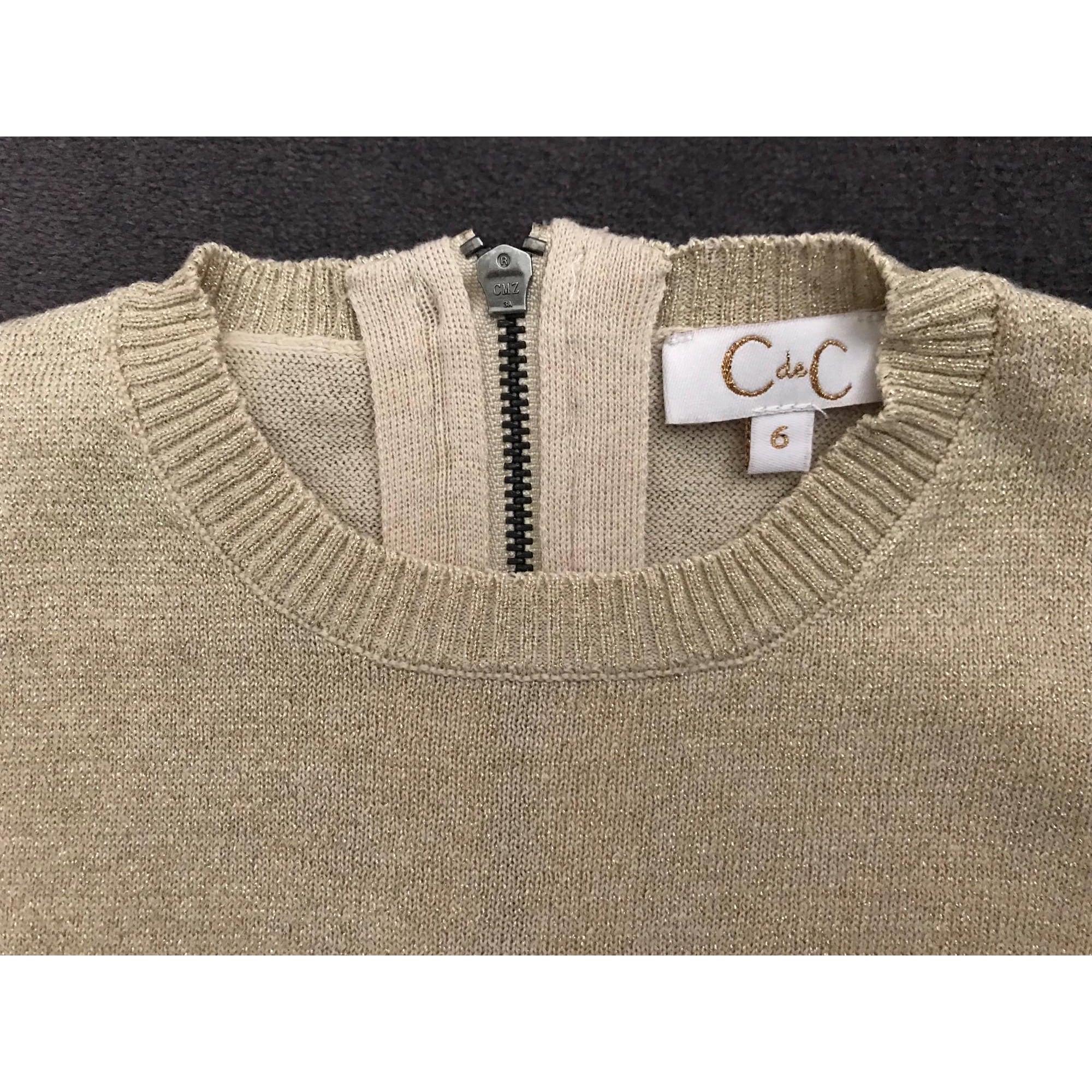 Robe C DE C BY CORDELIA DE CASTELLANE coton doré 5-6 ans